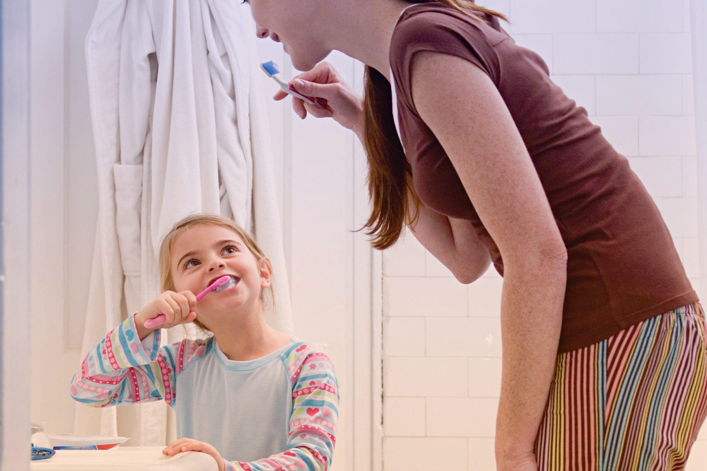 Brushing your teeth: helpful.