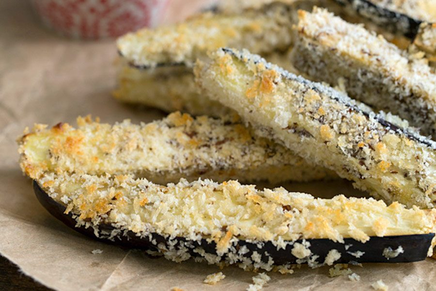 "Baked Eggplant ""Fries"""