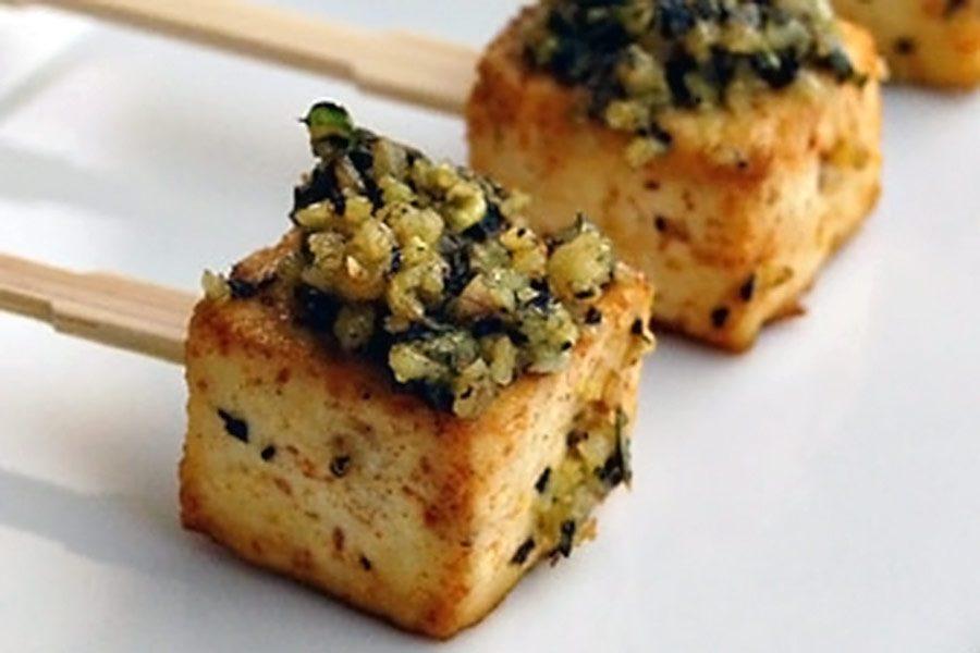 Roasted Tofu Pesto Pops