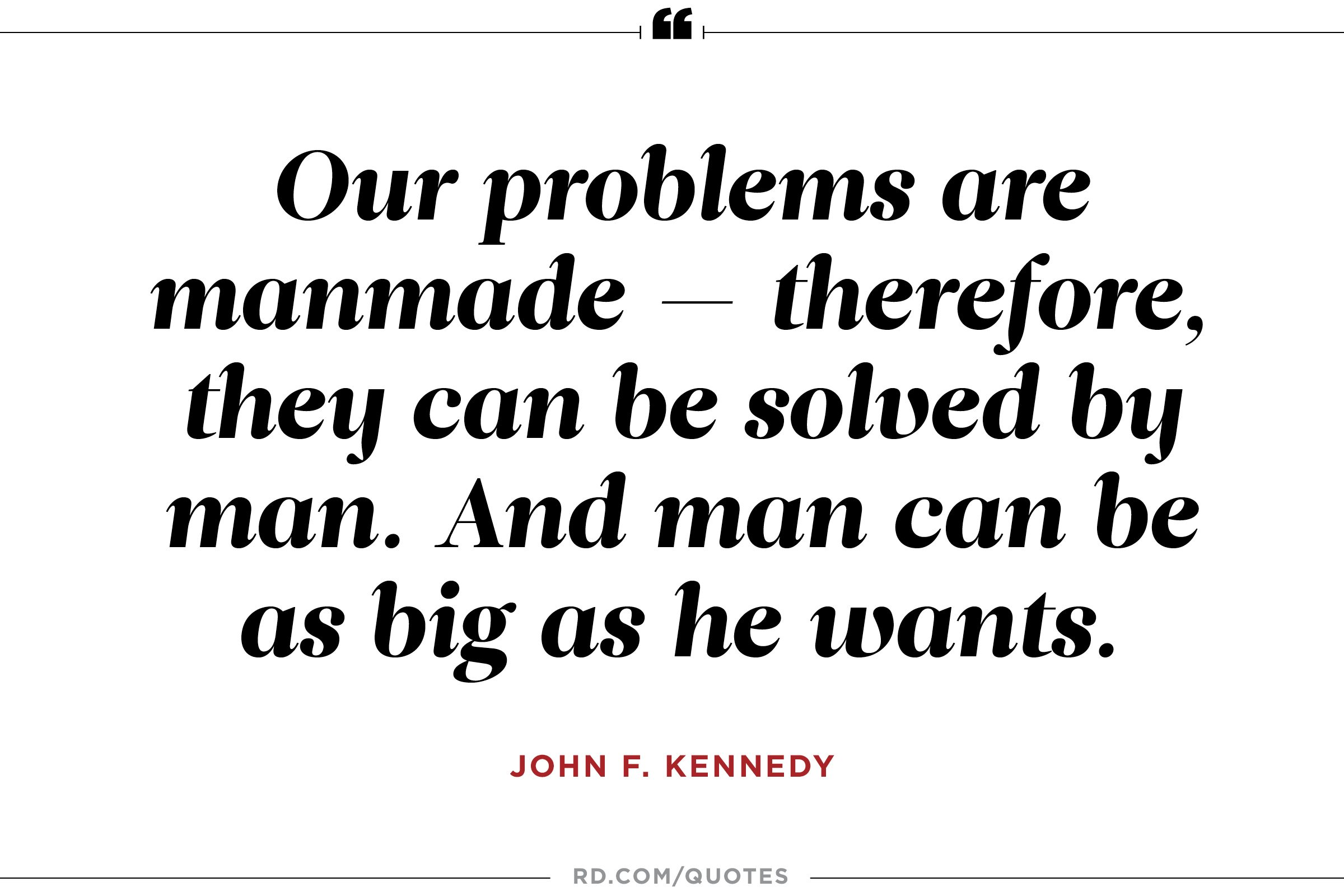 JFK on solving big problems