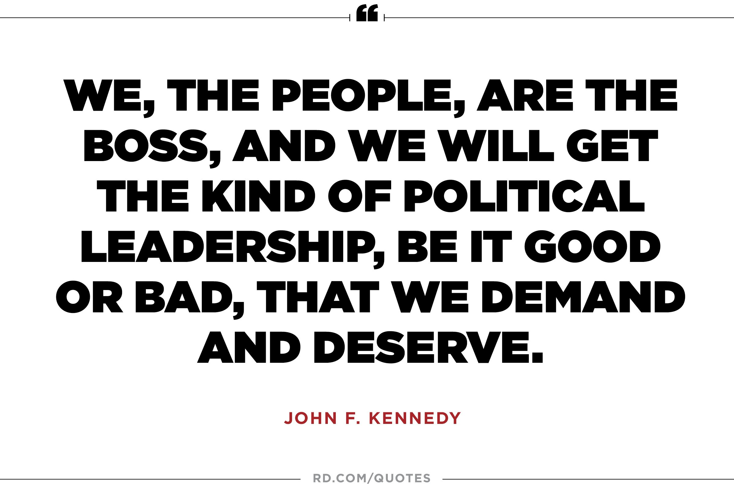 JFK on democracy