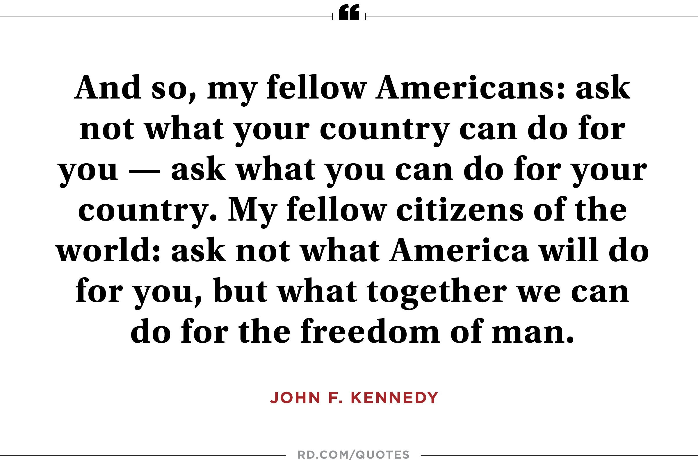 JFK on making a difference