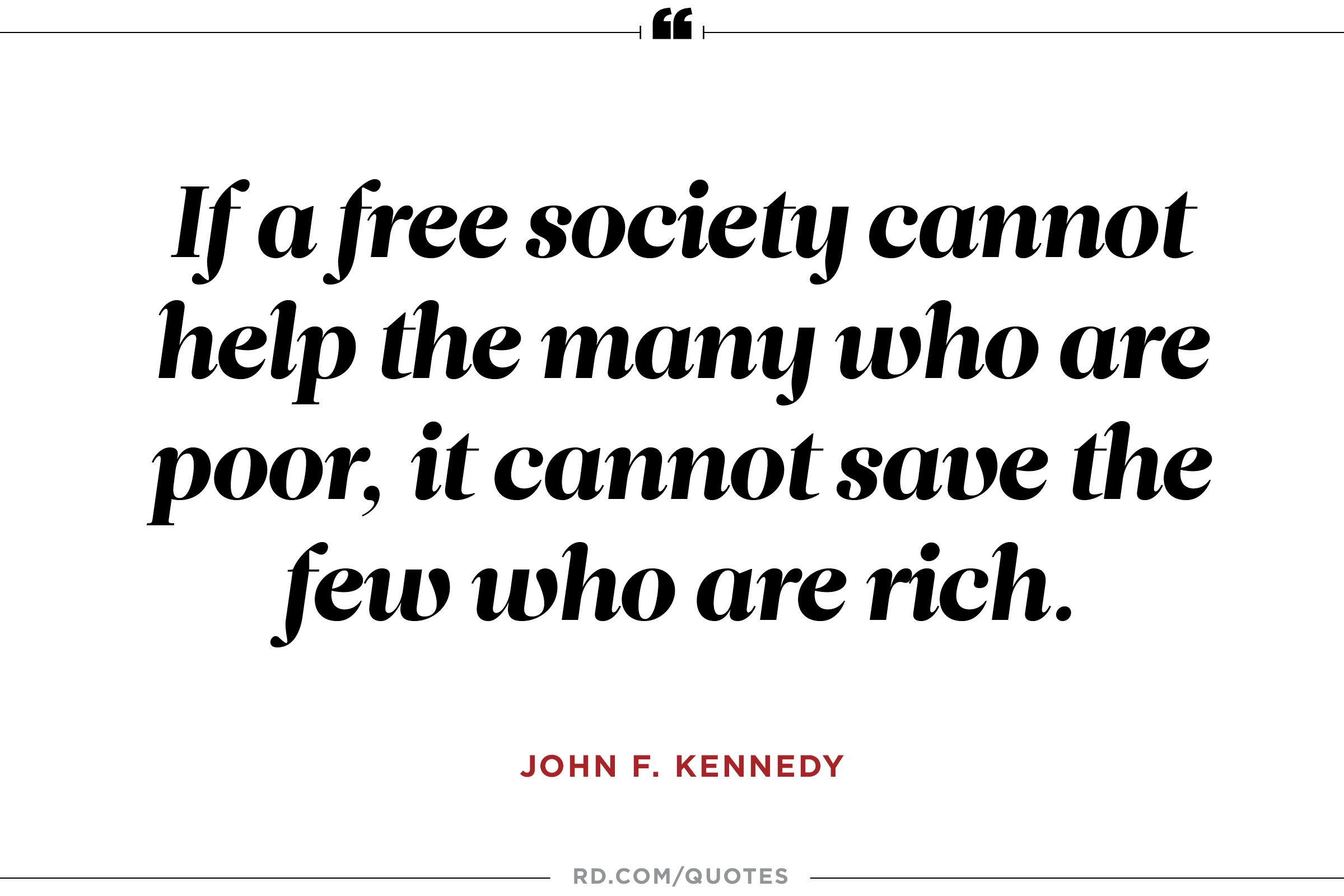 JFK on poverty