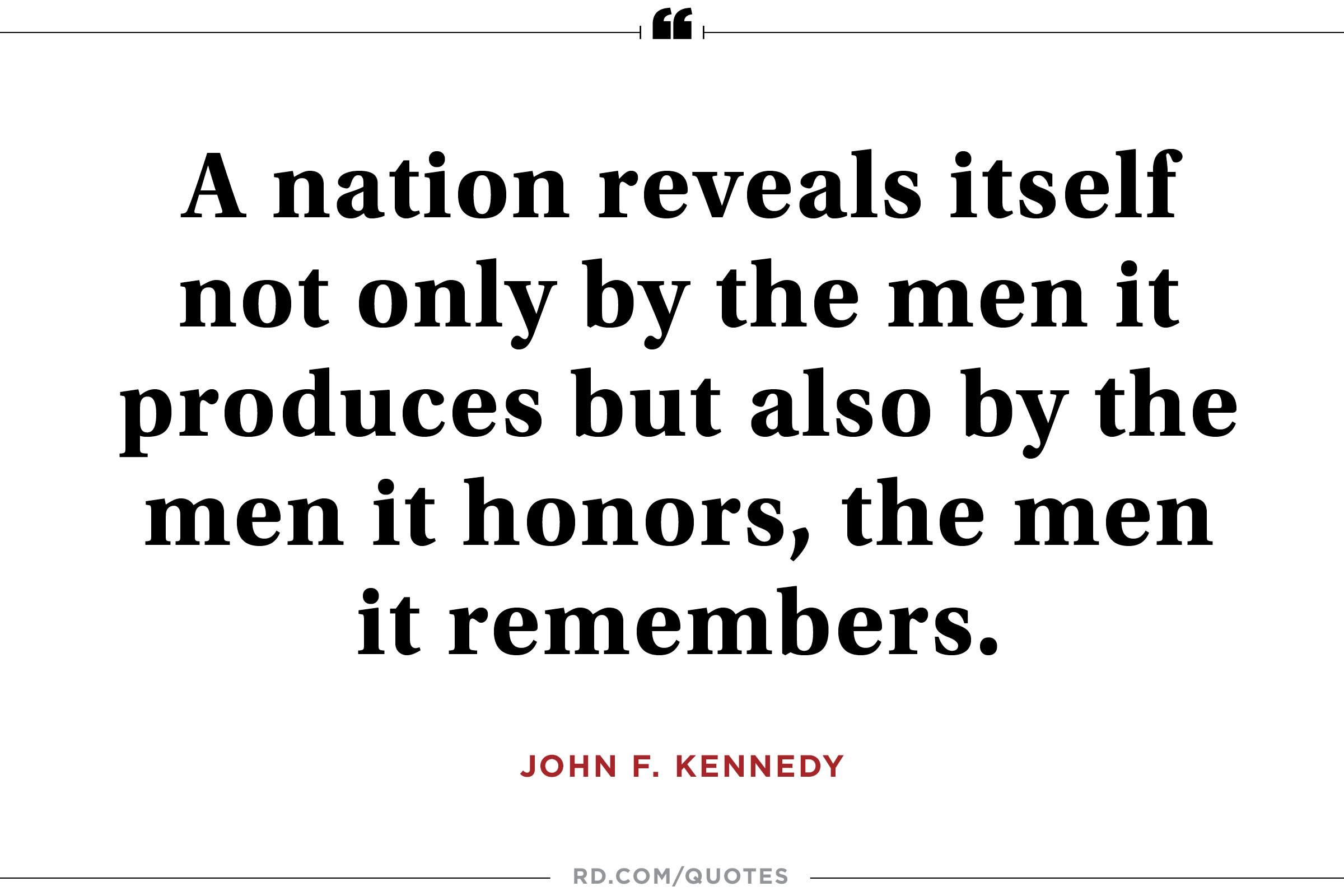 JFK on remembering good men