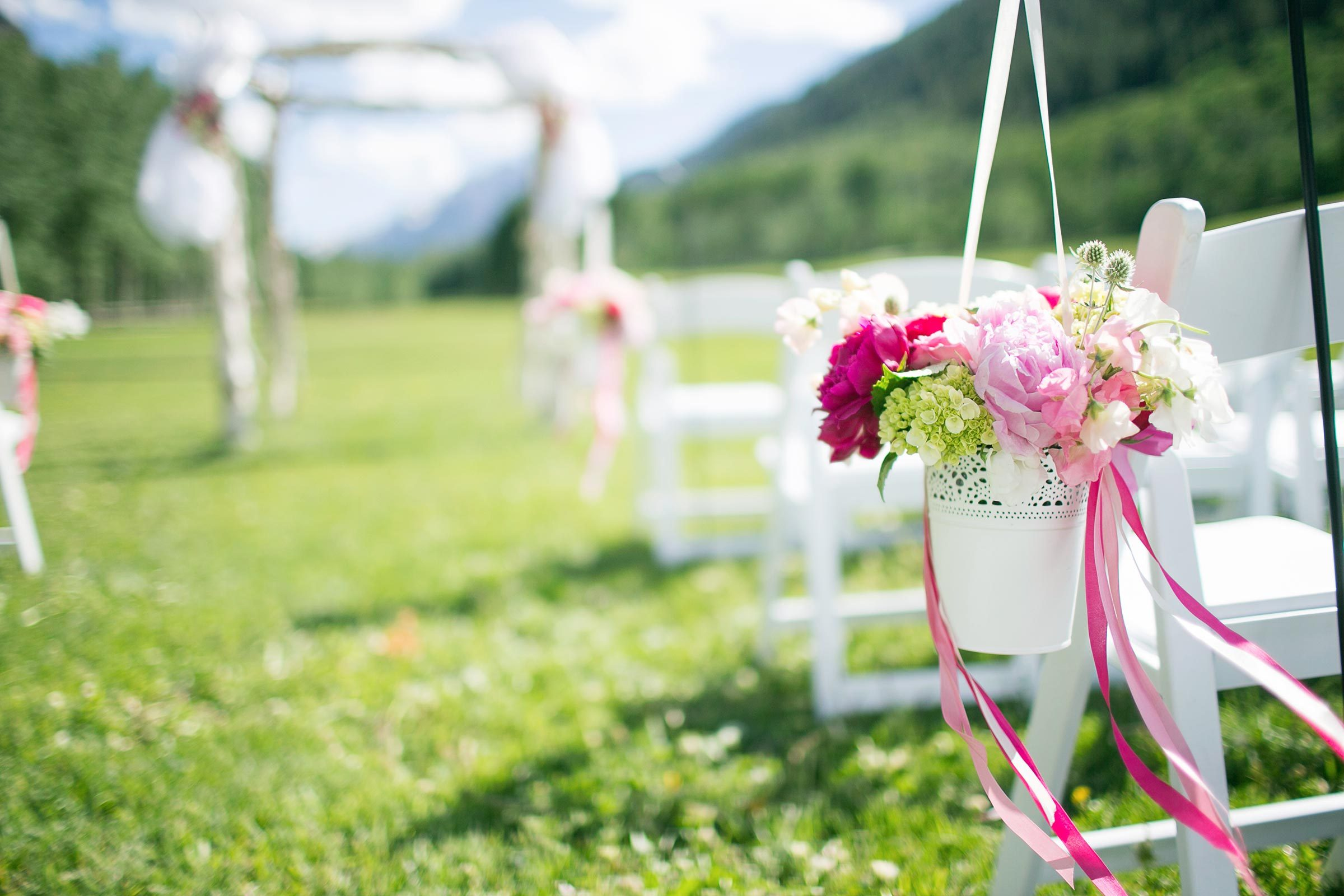 Reuse flowers from ceremony to reception if at all possible.