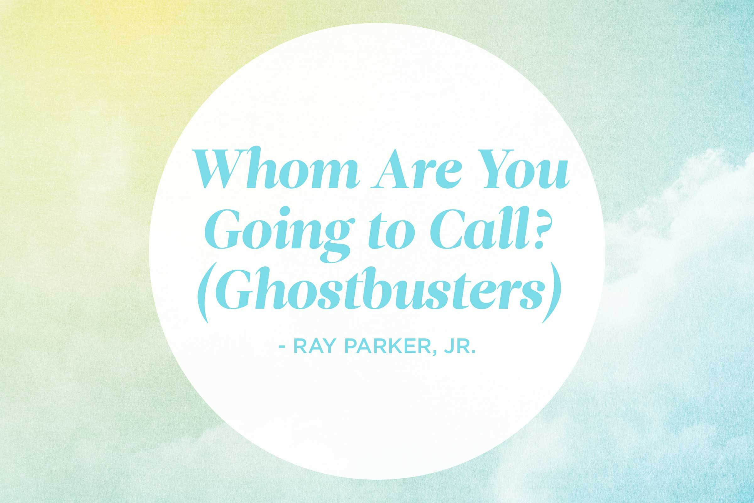 'Who You Gonna Call? (Ghostbusters)' by Ray Parker, Jr.