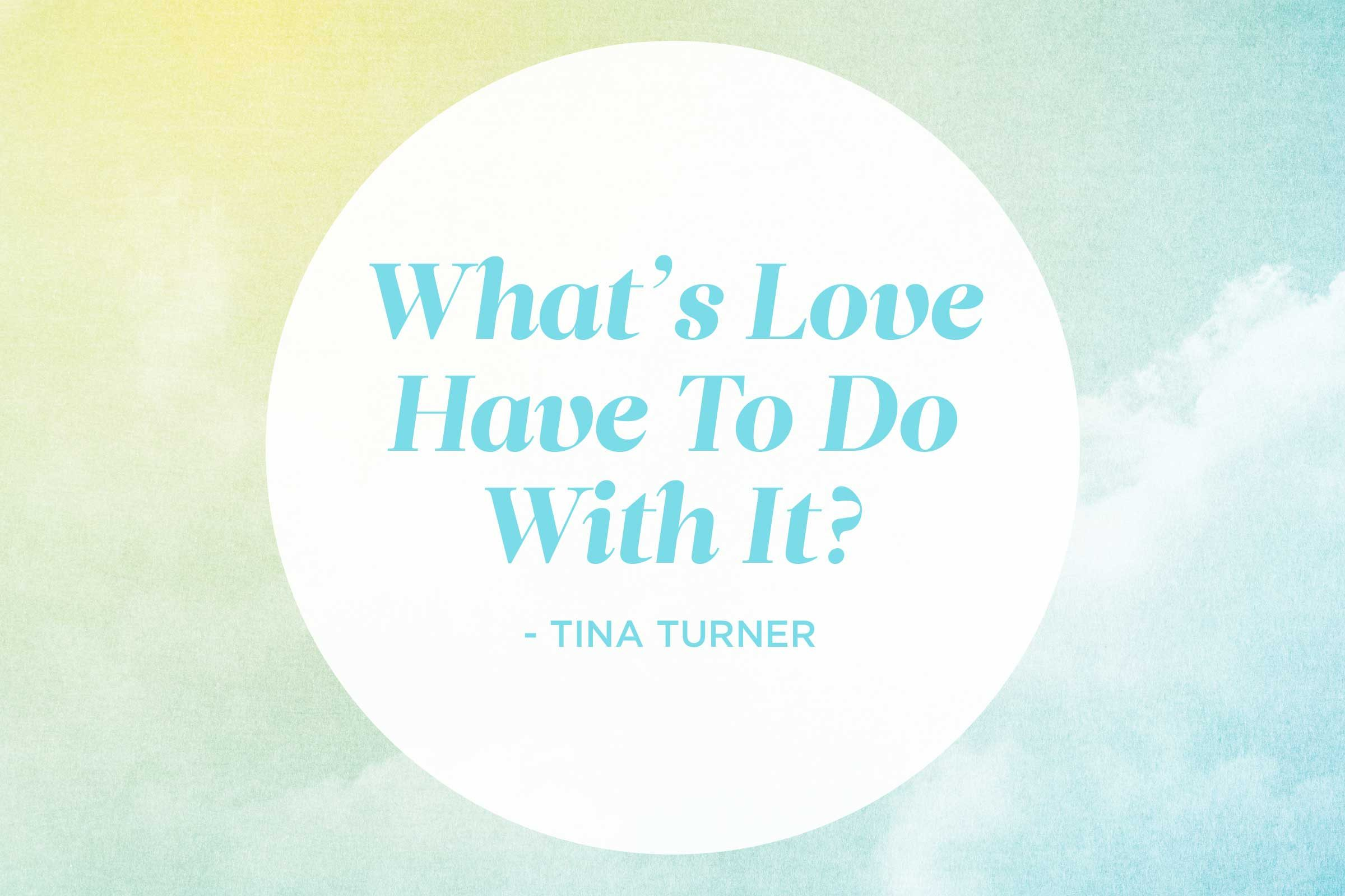 'What's Love Got To Do With It?' by Tina Turner