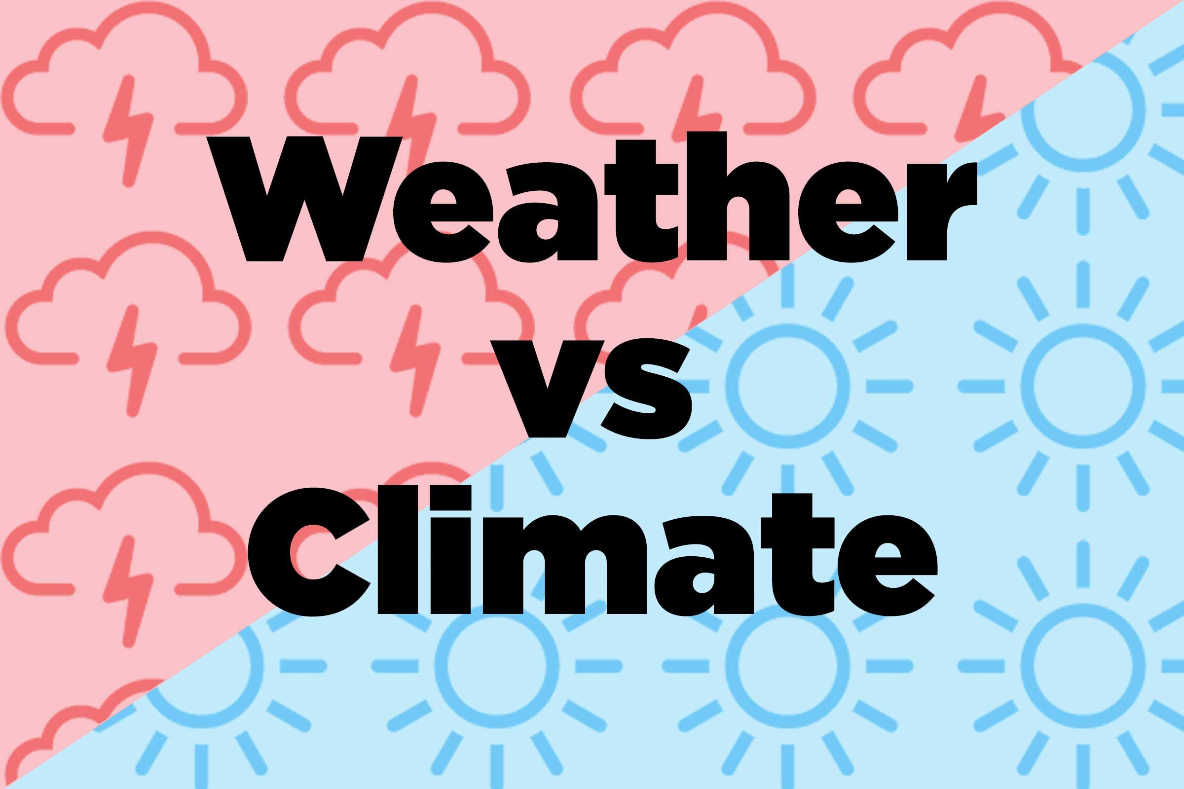 Difference Between Weather and Climate: Nature Words Defined ...