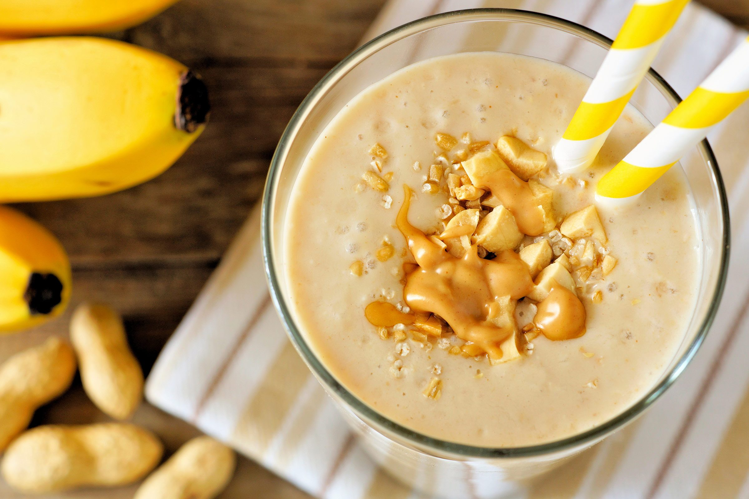 Banana-Peanut Butter Smoothies