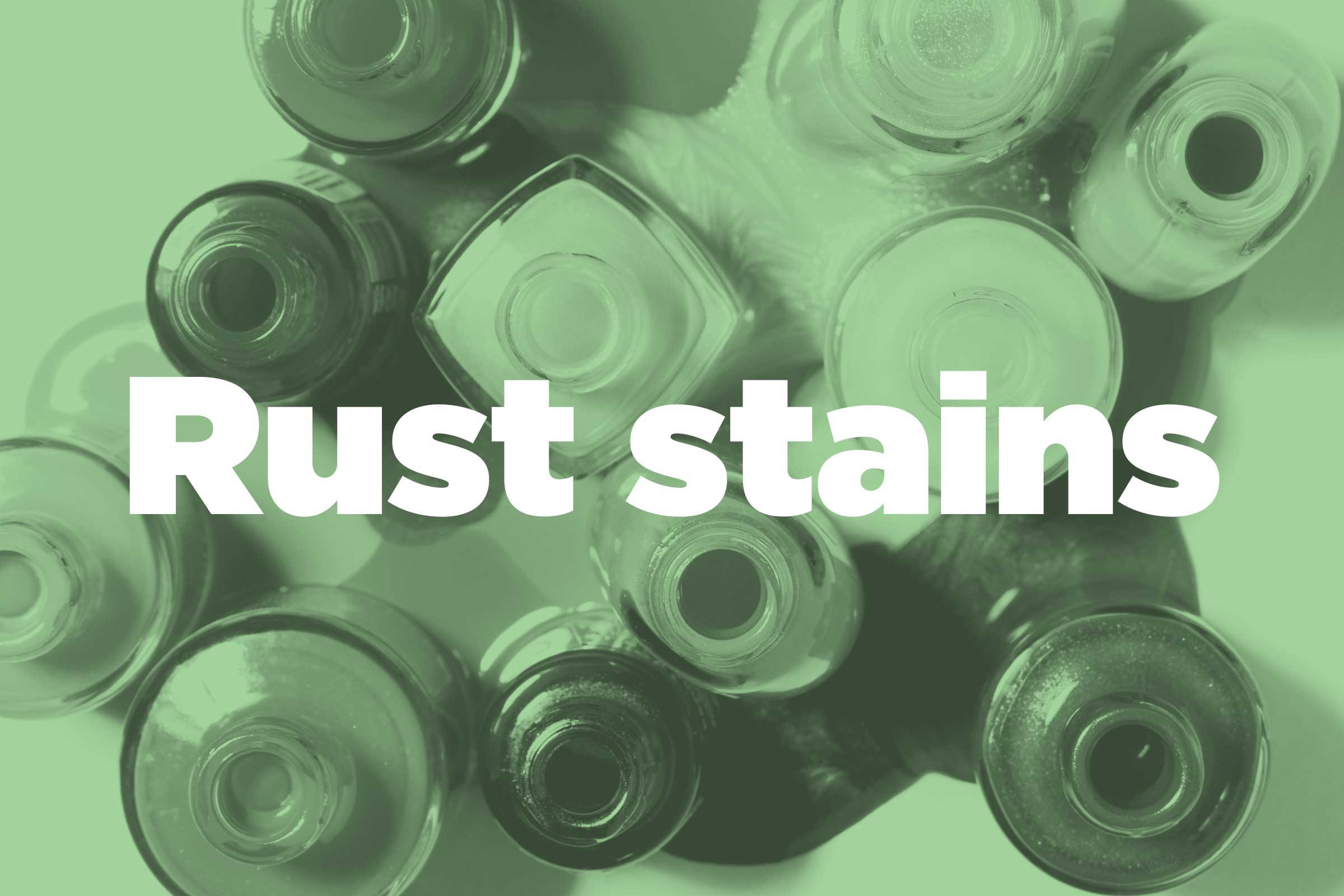 Prevent rust stains
