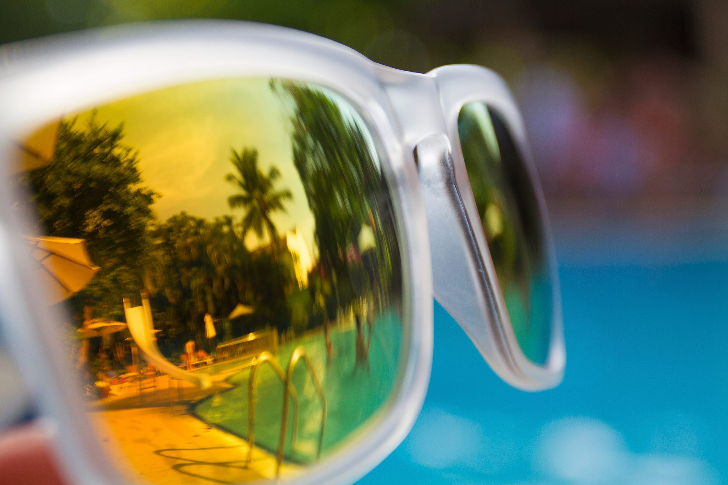Polarized sunglasses are great at reducing glare,