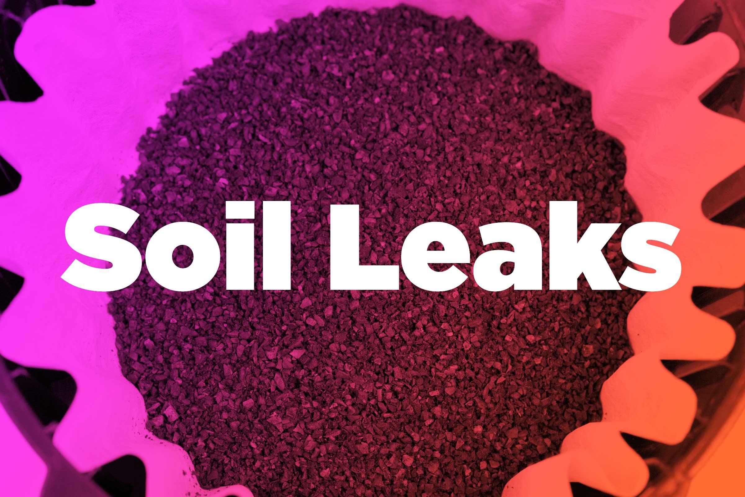 Prevent soil leakage