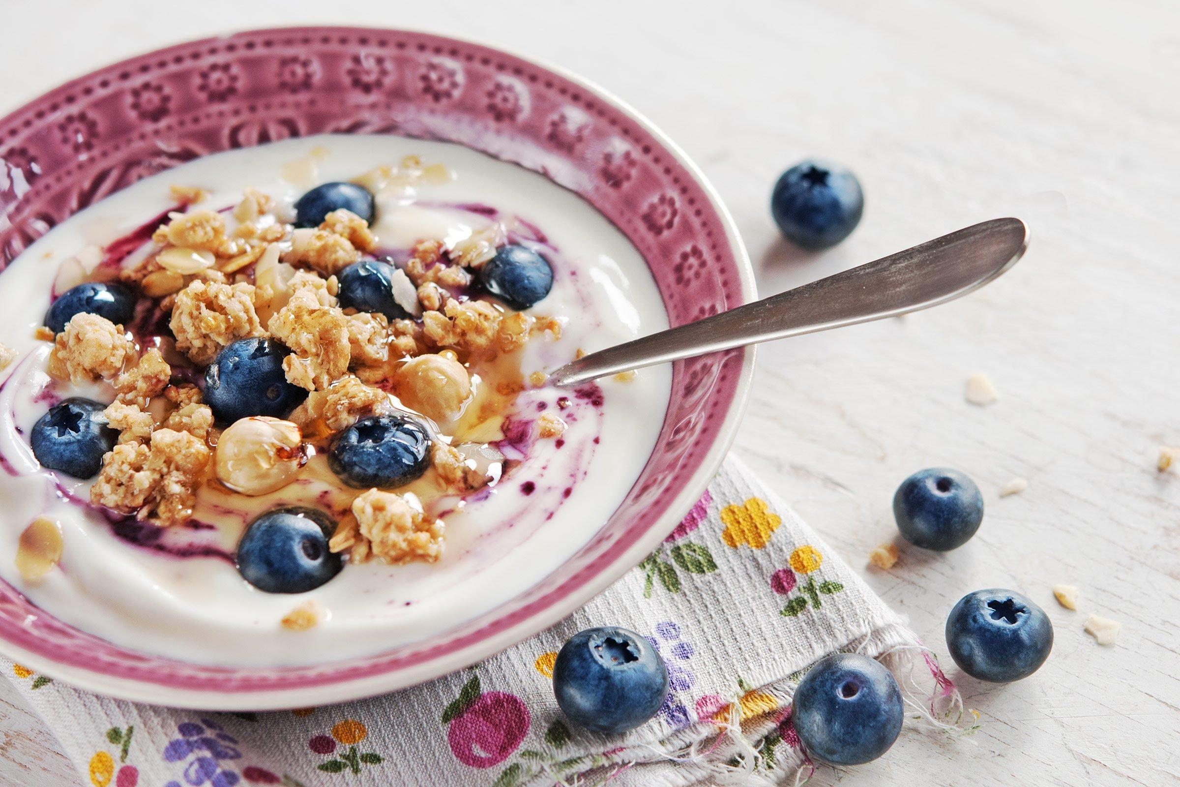 Pair fruit with breakfast foods.