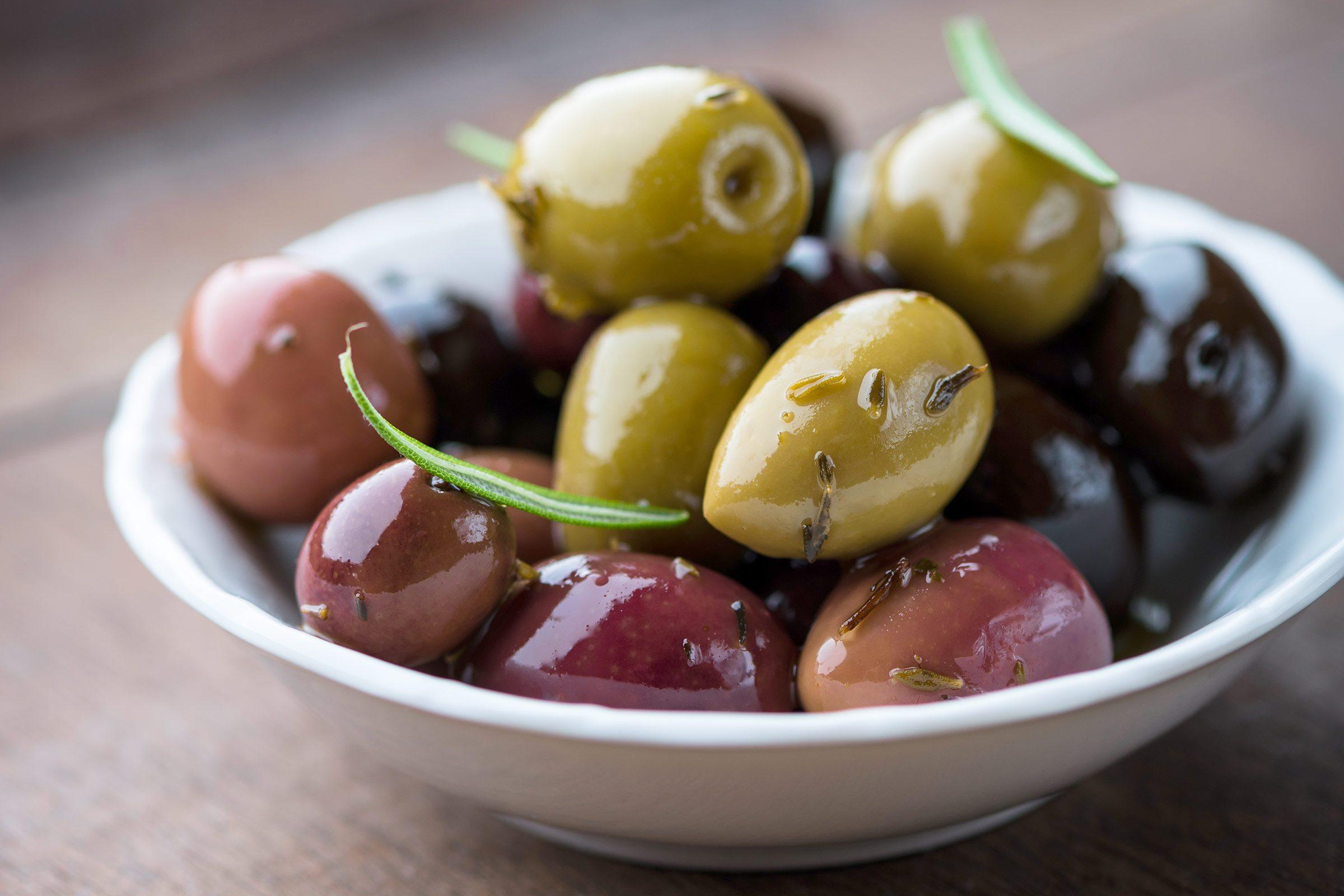 13. Green olives or black olives