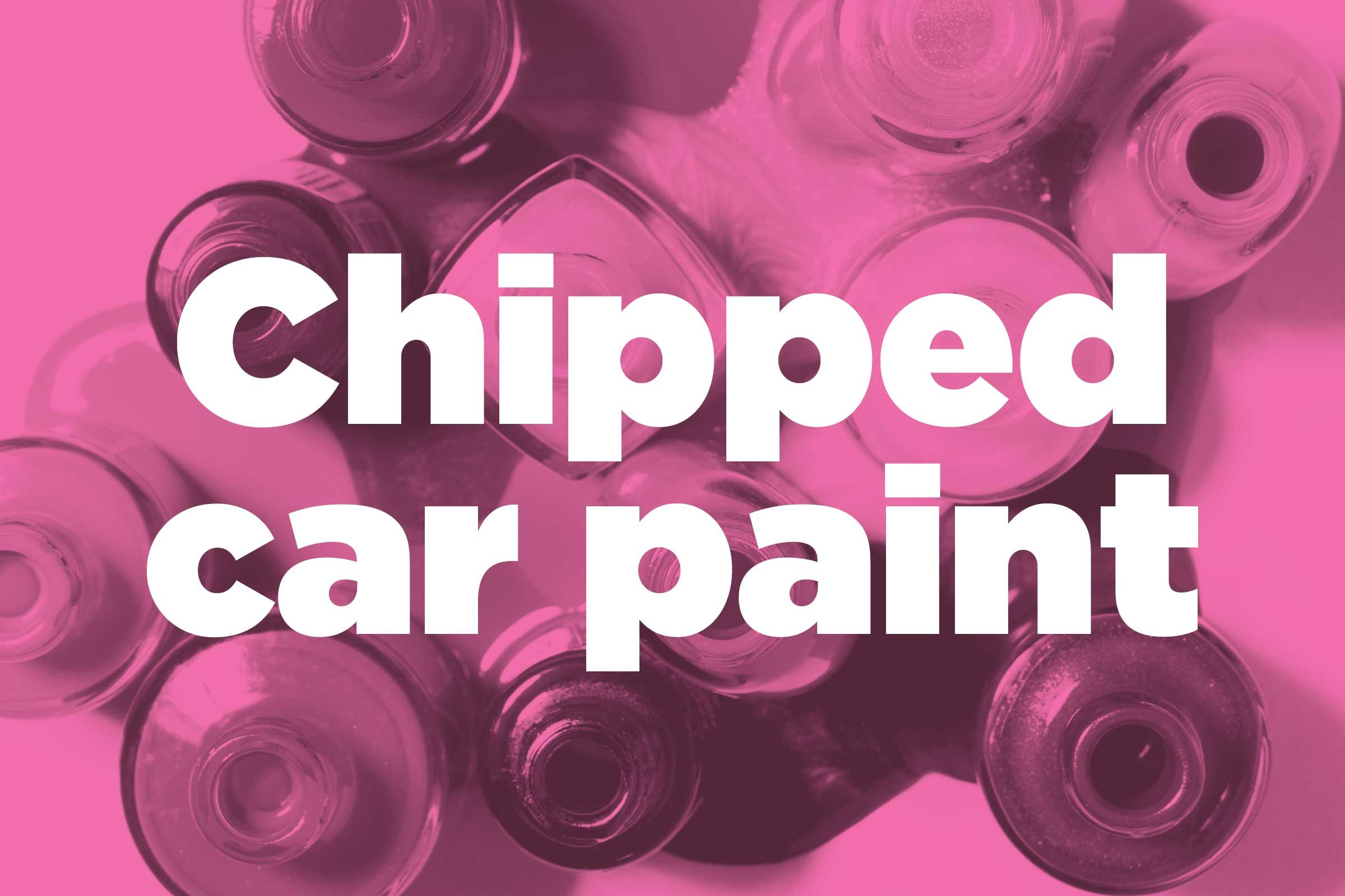 Prevent chipped car paint from rusting