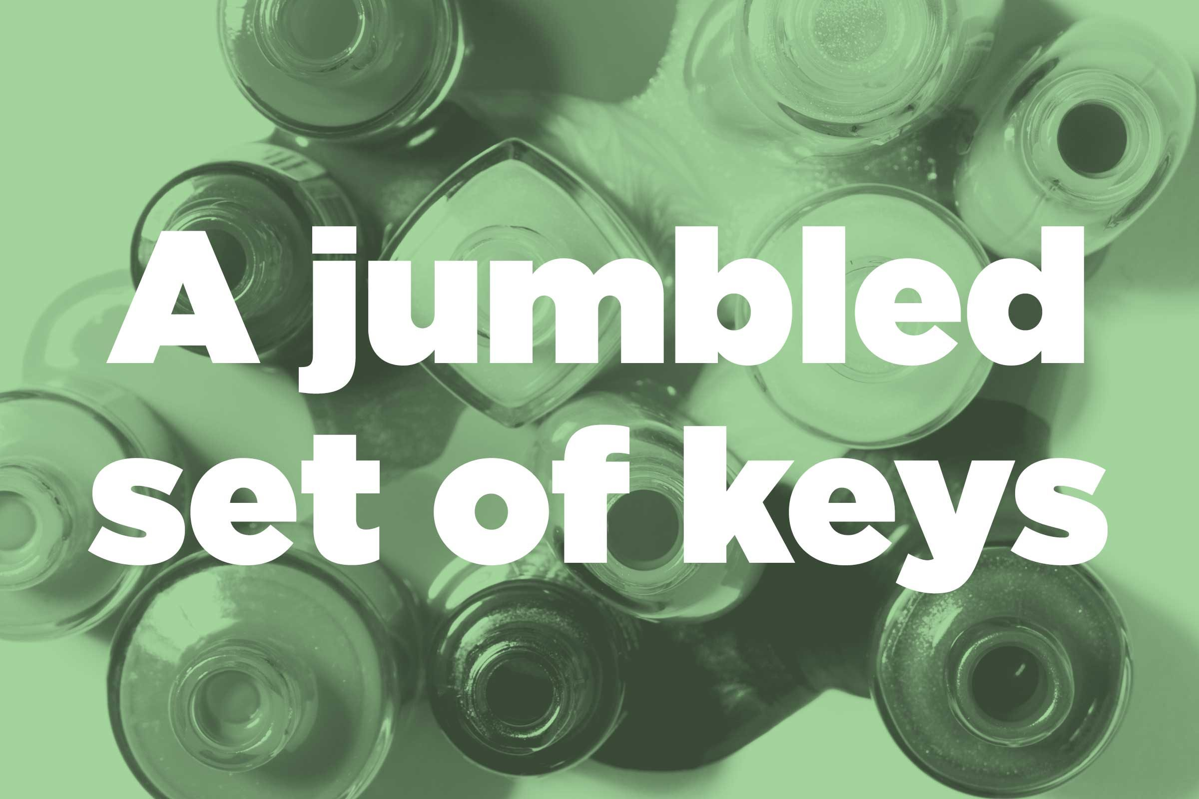 Organize a jumbled set of keys
