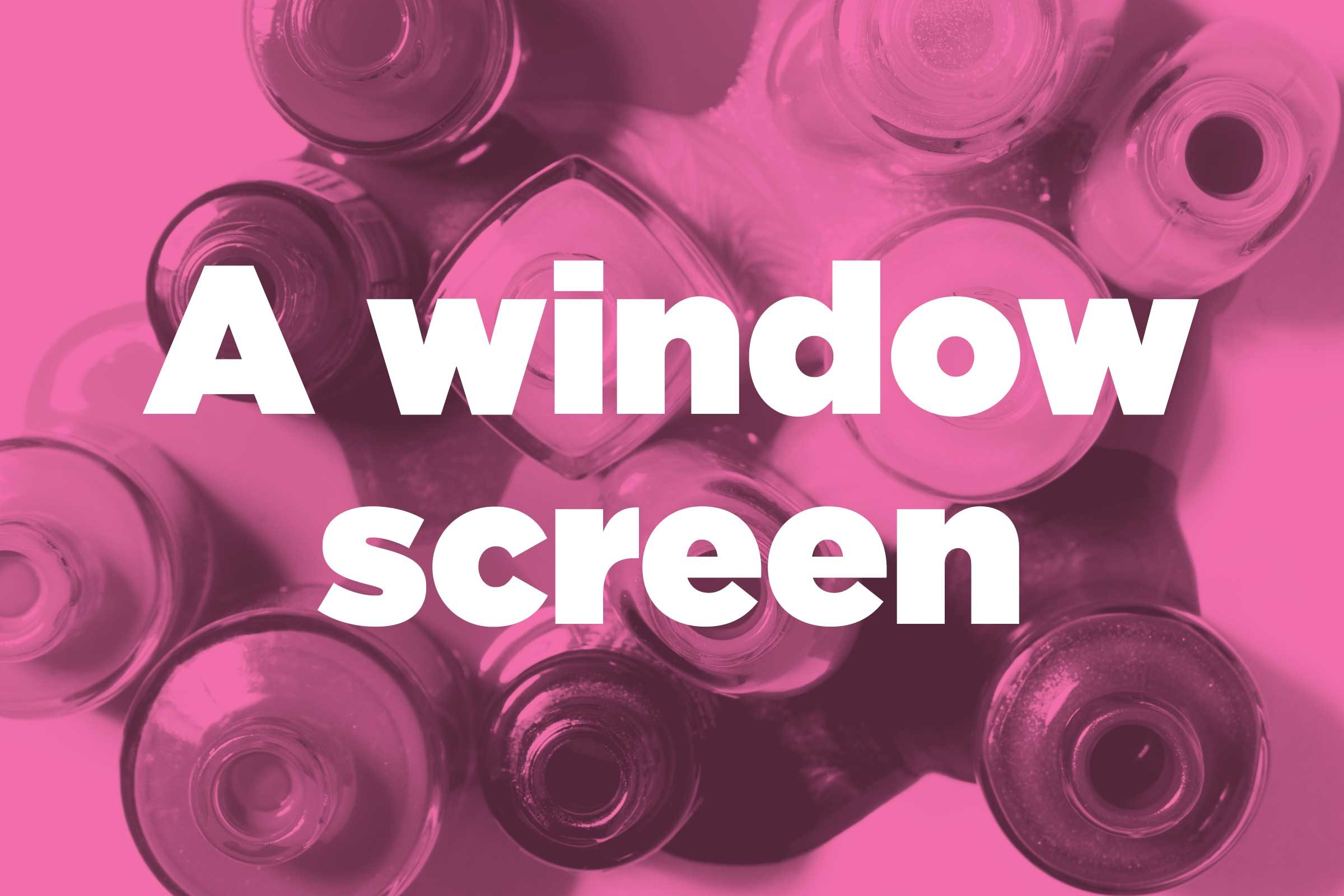 Fix a window screen