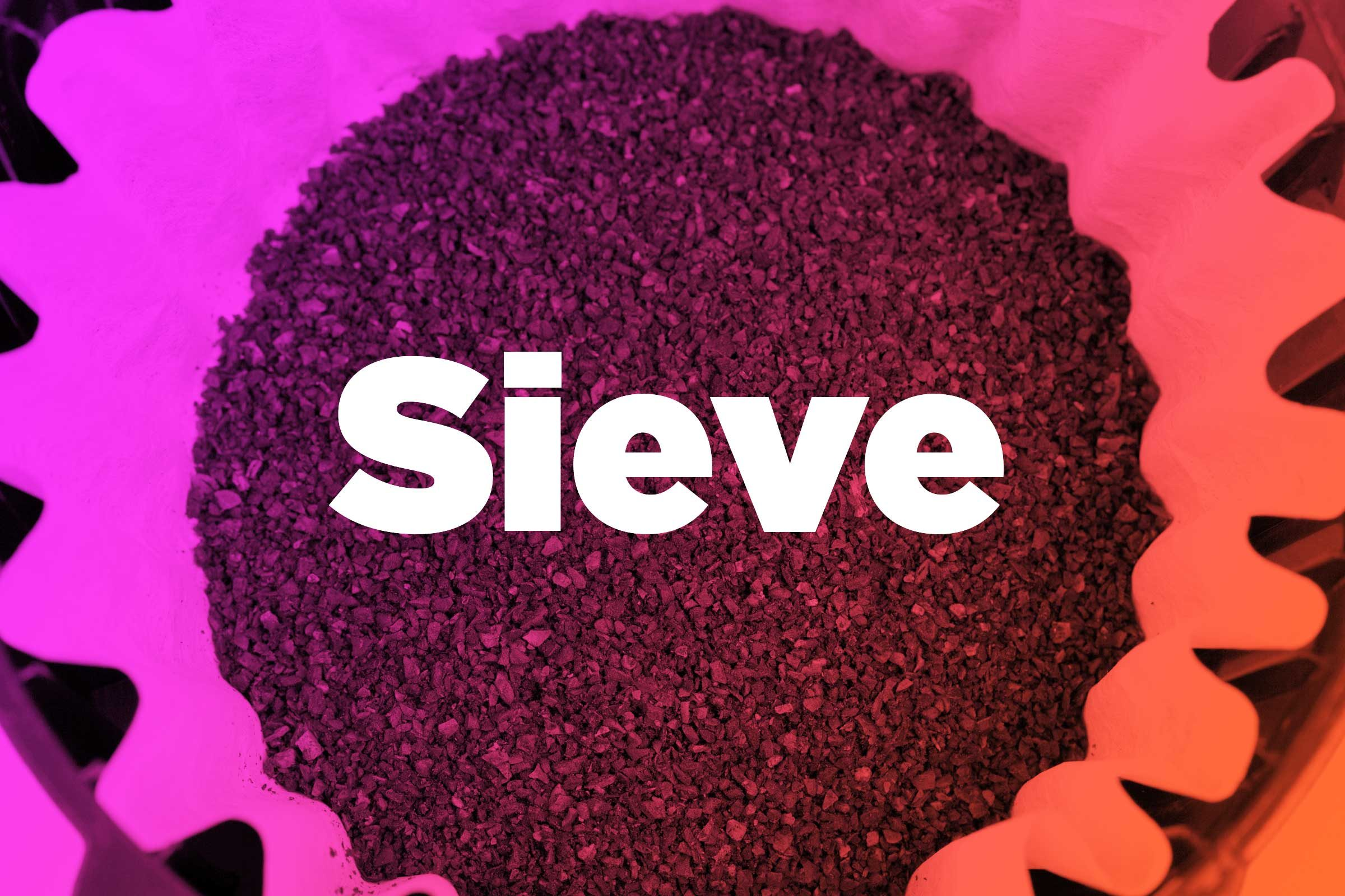 Line a sieve