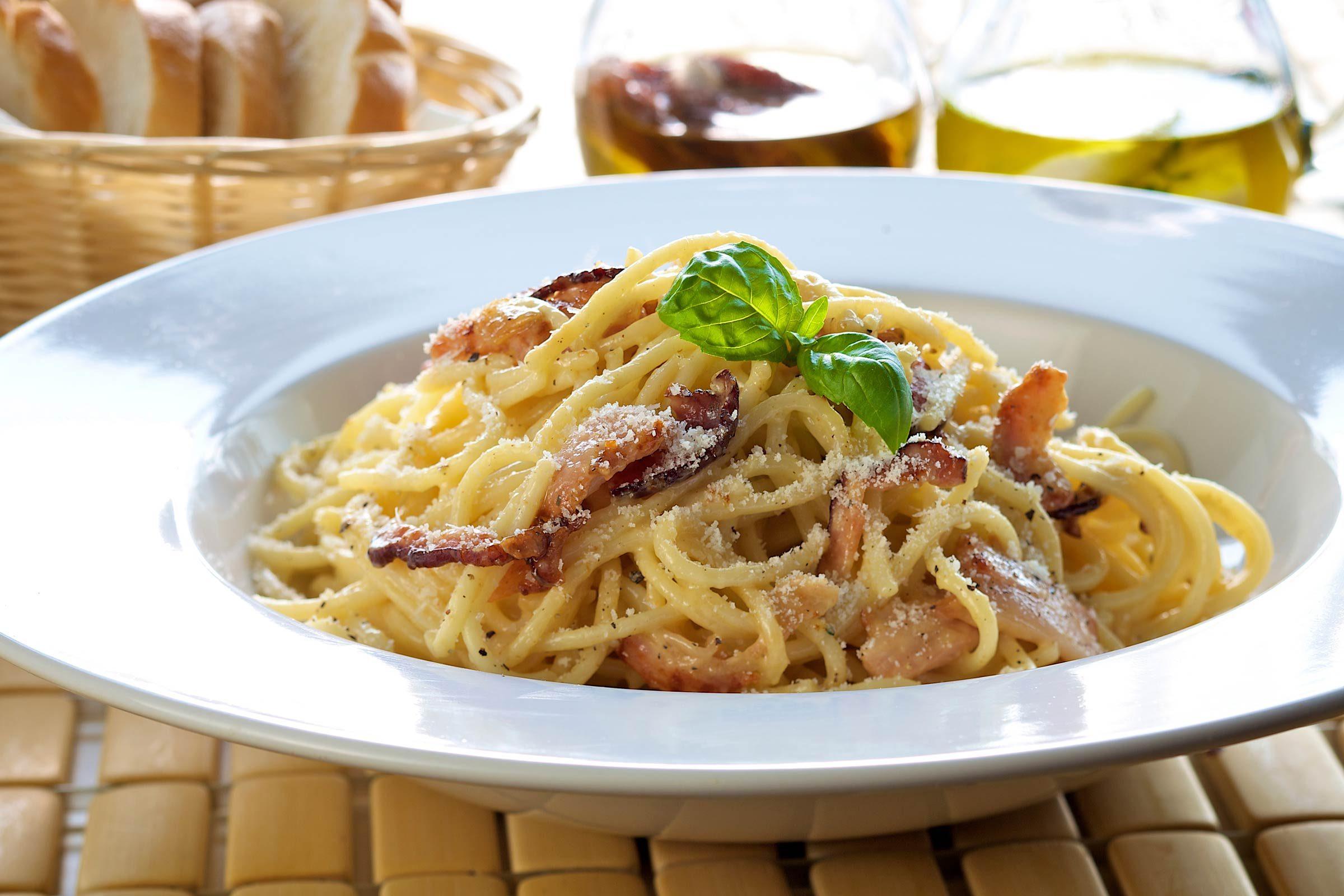 Whip up a simple spaghetti carbonara