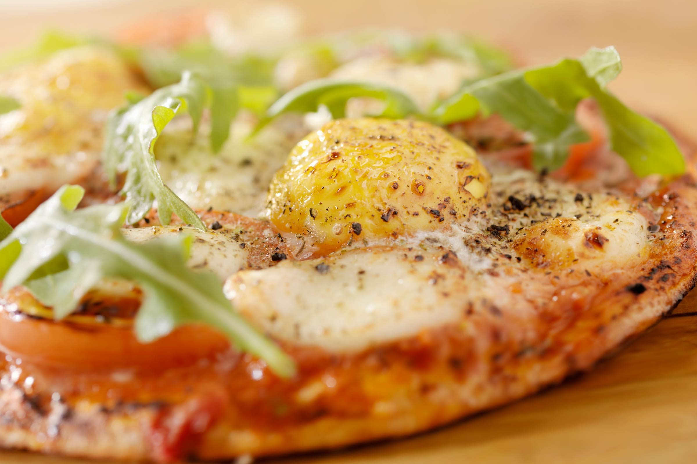 Make an egg-topped pizza