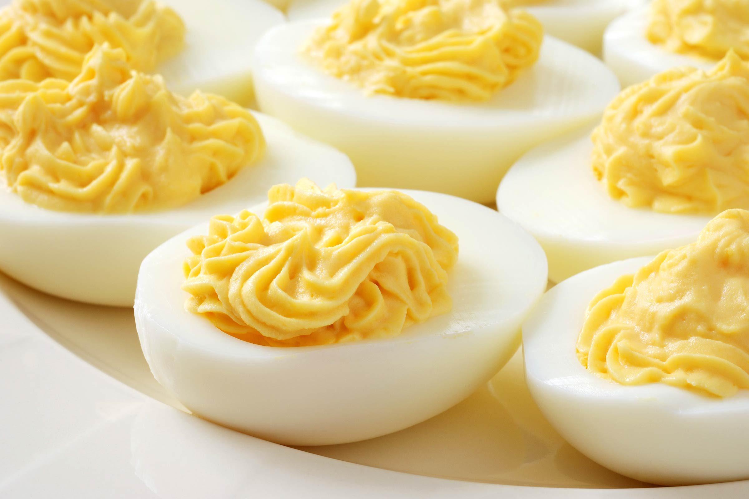Prepare classic deviled eggs