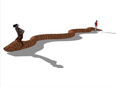 Titanoboa, a 50-Foot Electromechanical Serpent