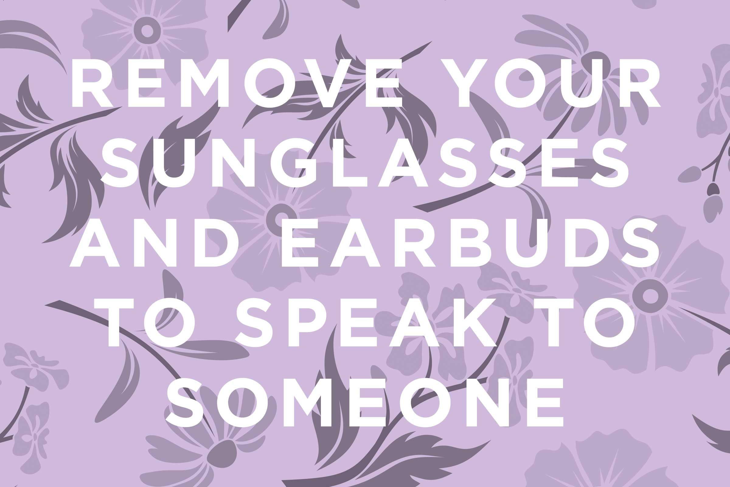 This Is Sunglasses Etiquette Many People Miss: