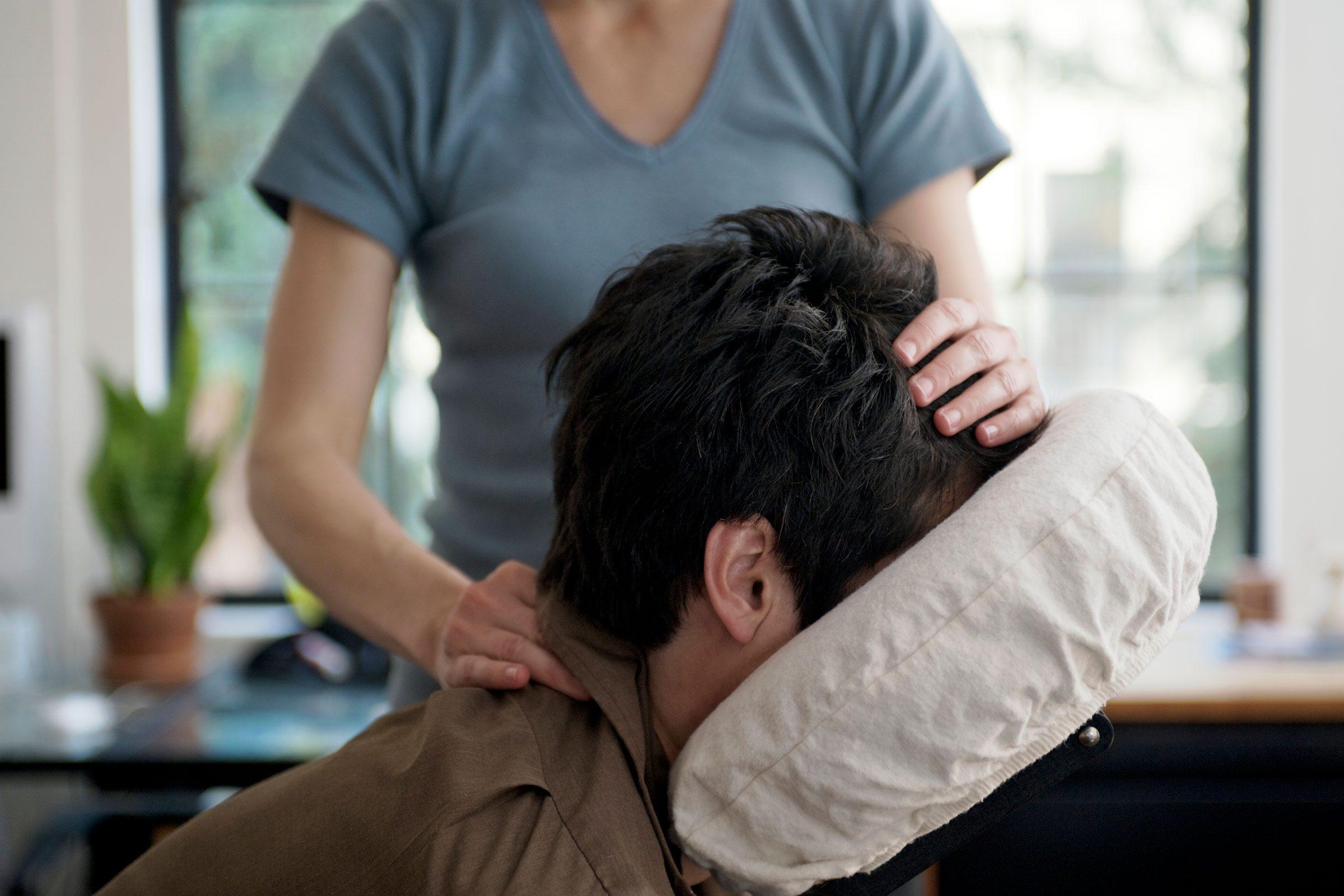 Get a chair massage