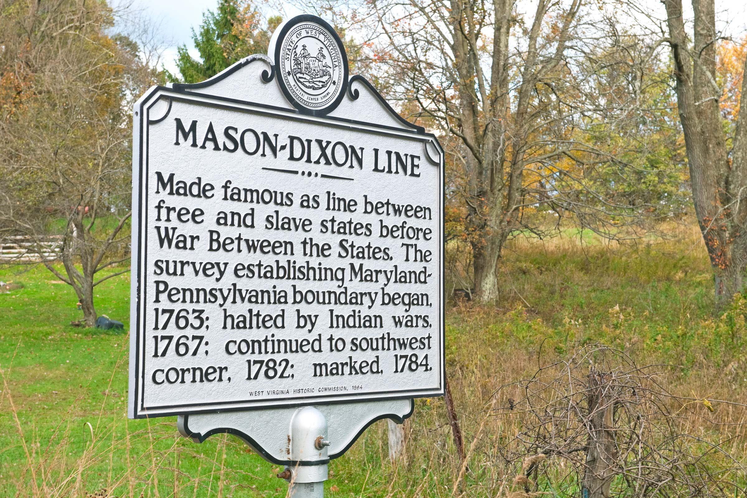Walk the Mason-Dixon line