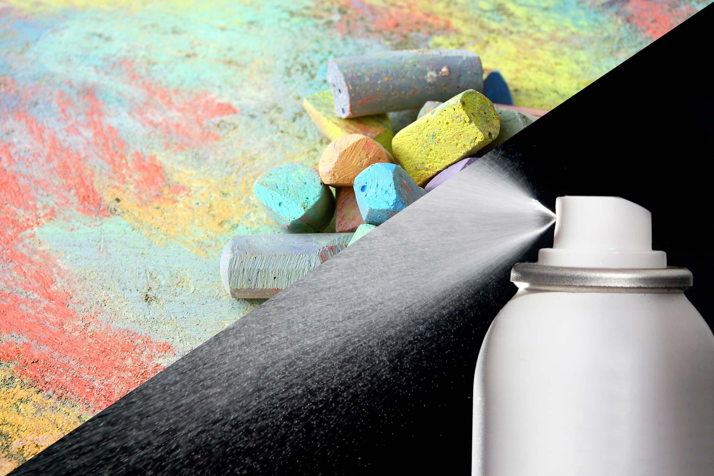 Sidewalk chalk sealant