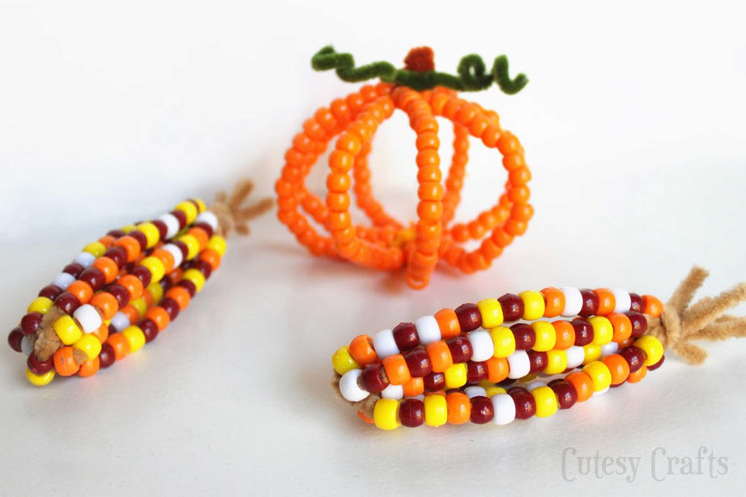 Fun Thanksgiving Crafts For Kids Part - 34: Courtesy Cutesy Crafts