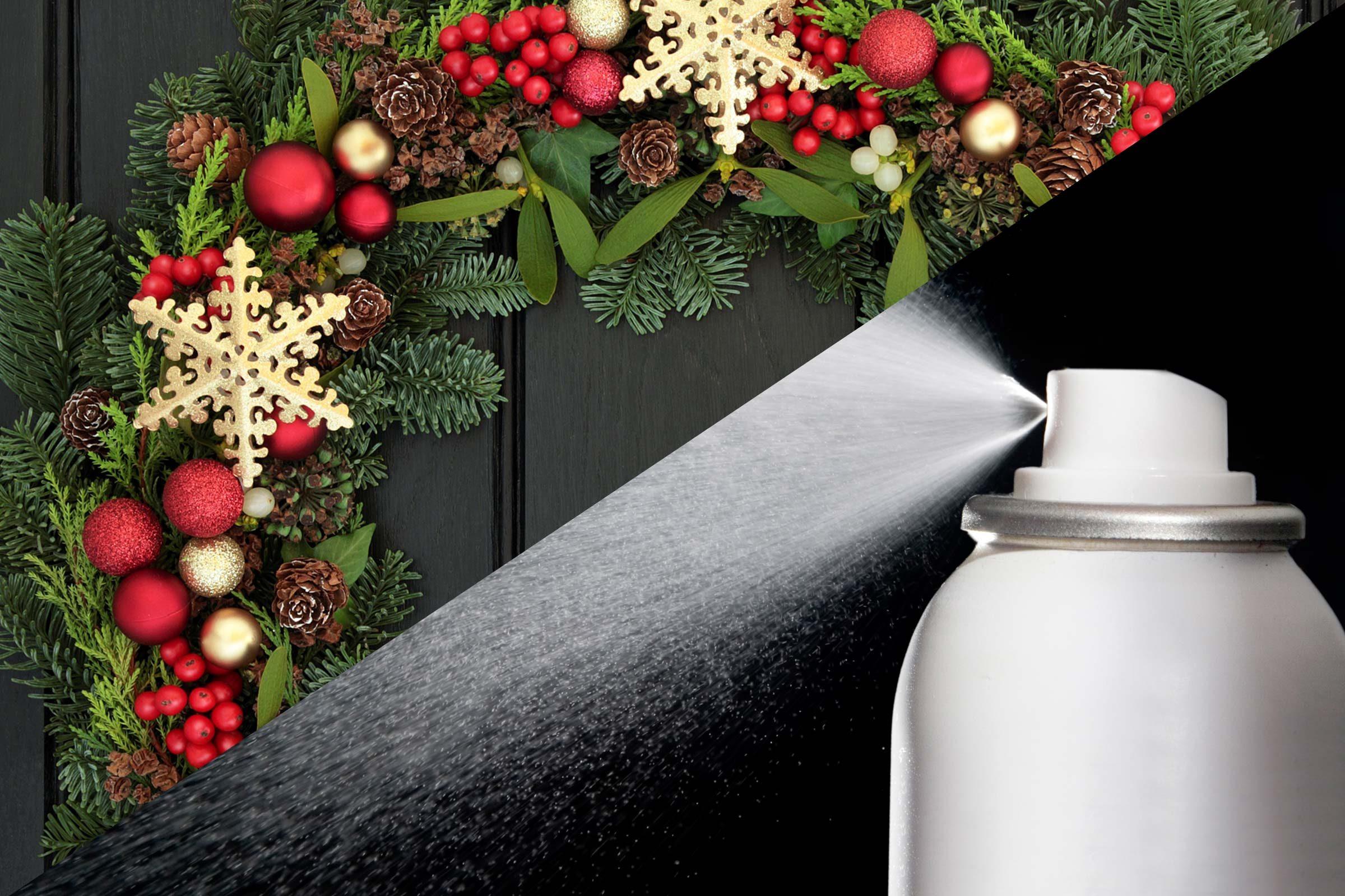 Preserve a Christmas wreath