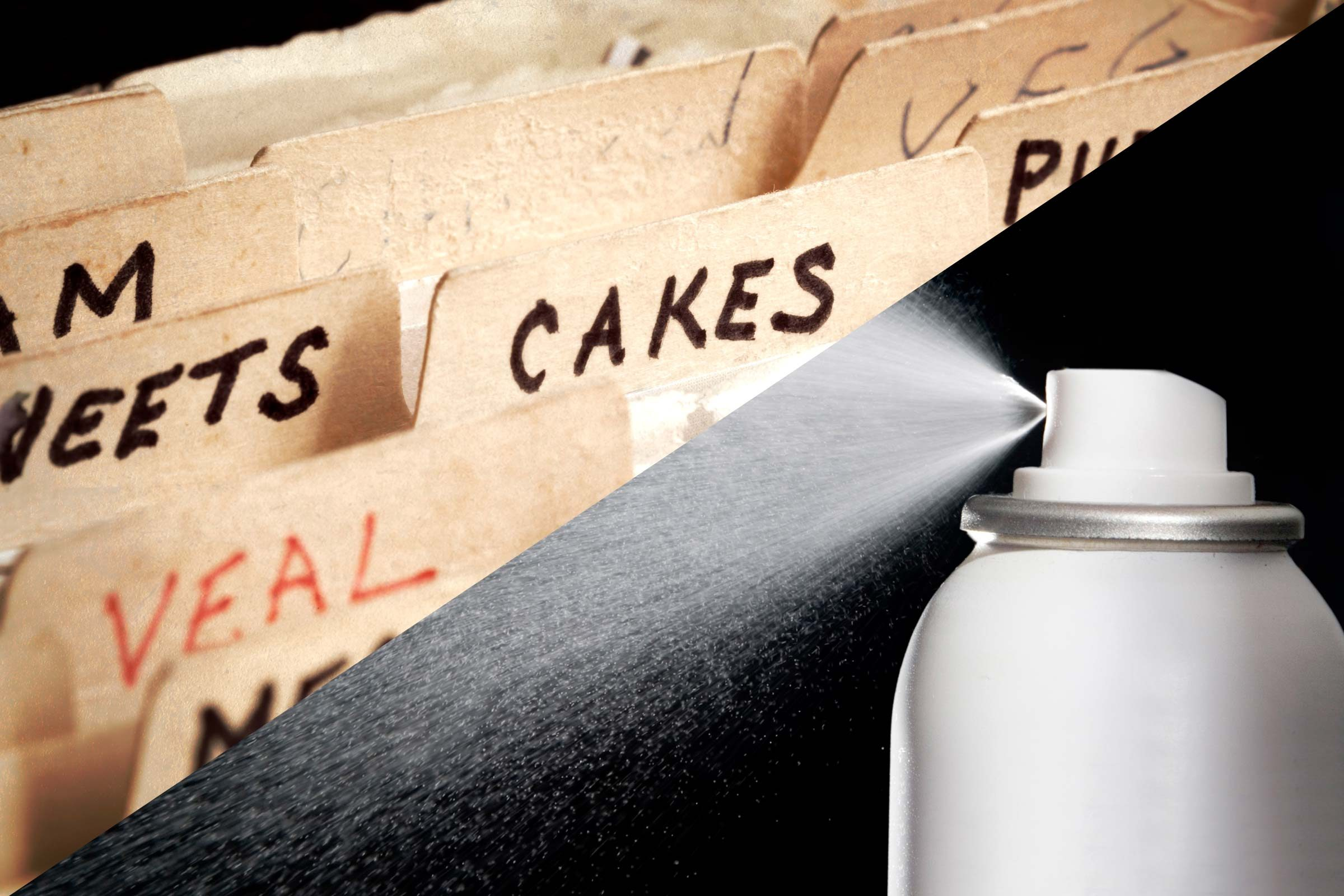 Keep recipe cards splatter-free