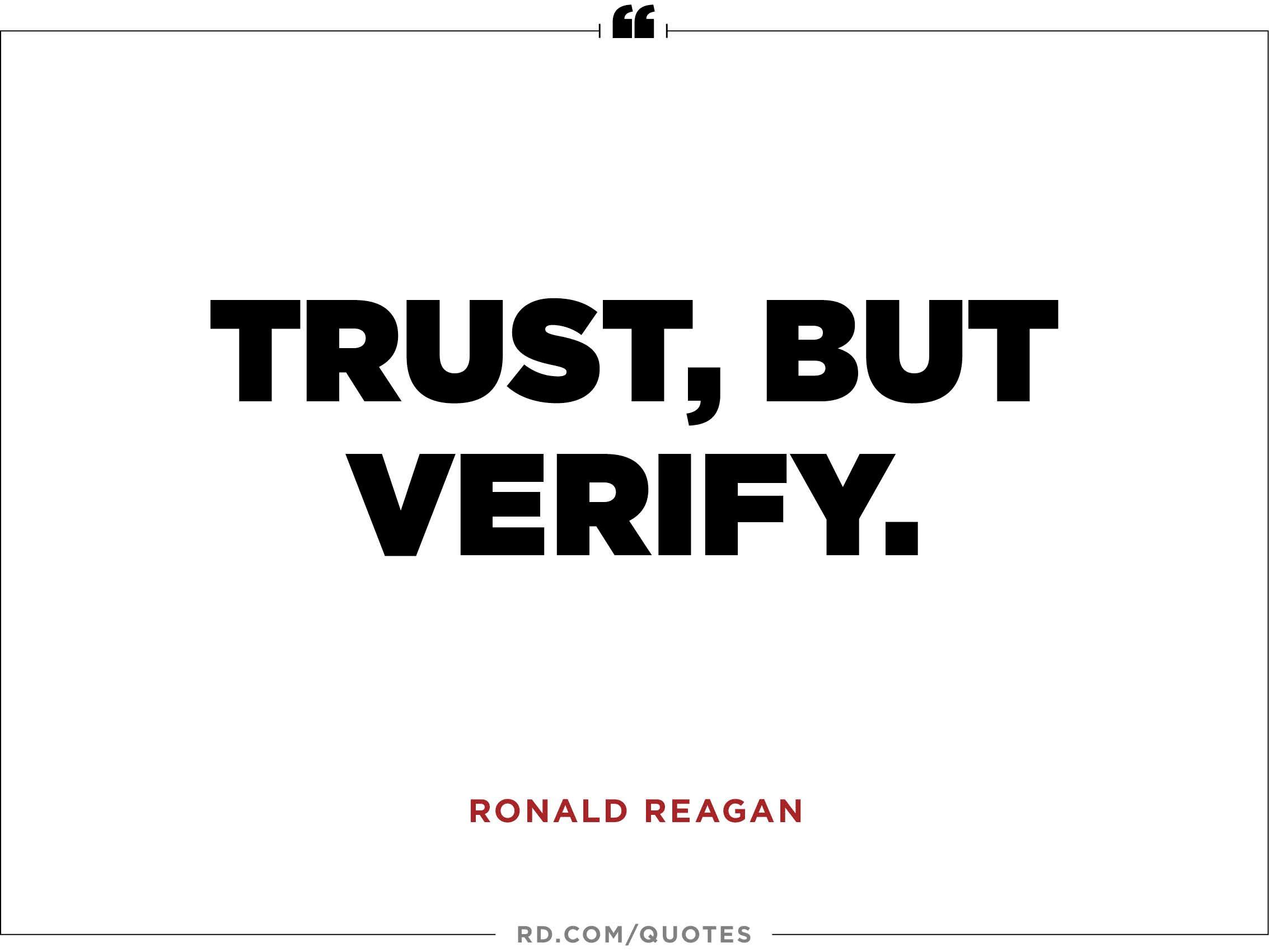 Trust, But