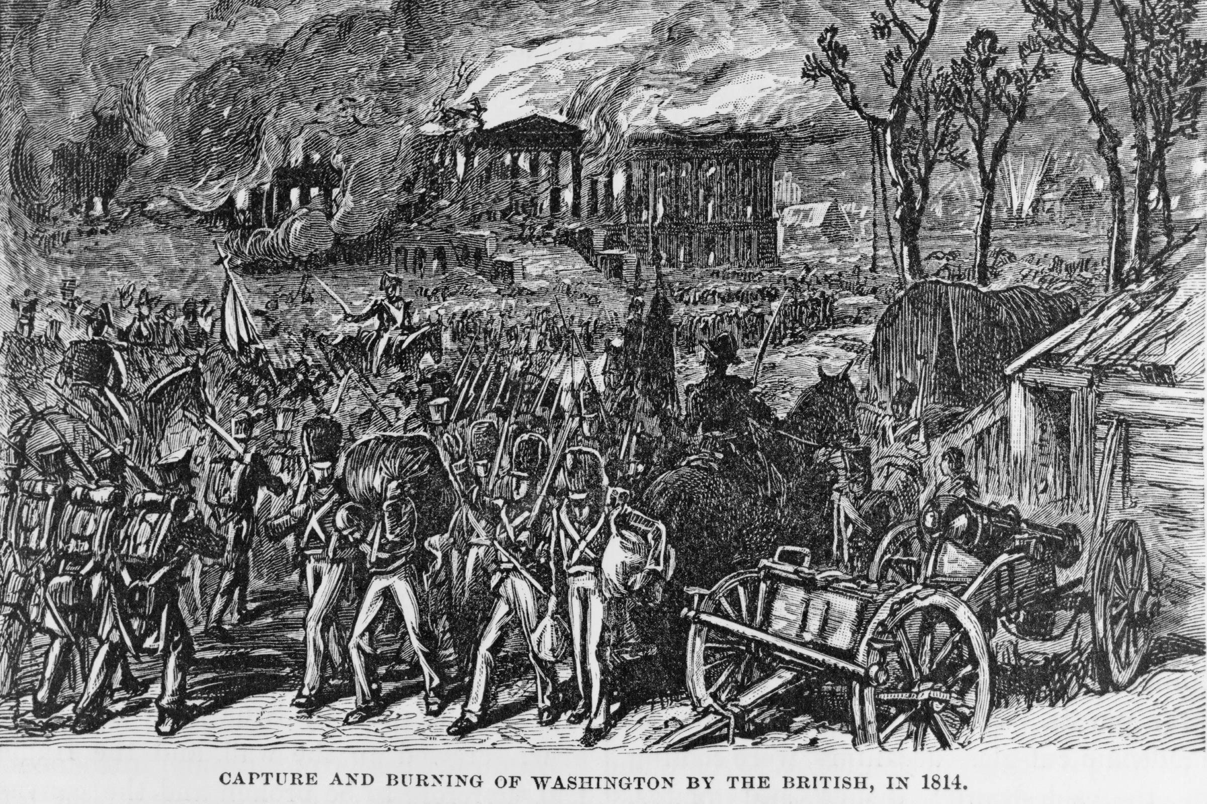 It was torched by British soldiers