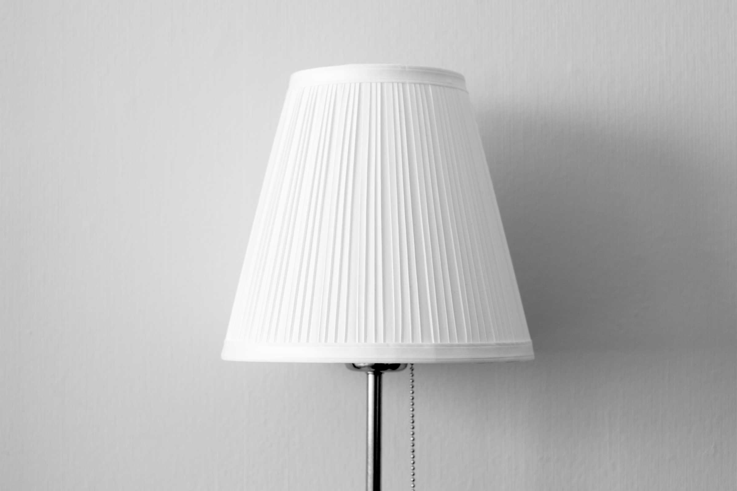 remove dirt from fabric lampshades