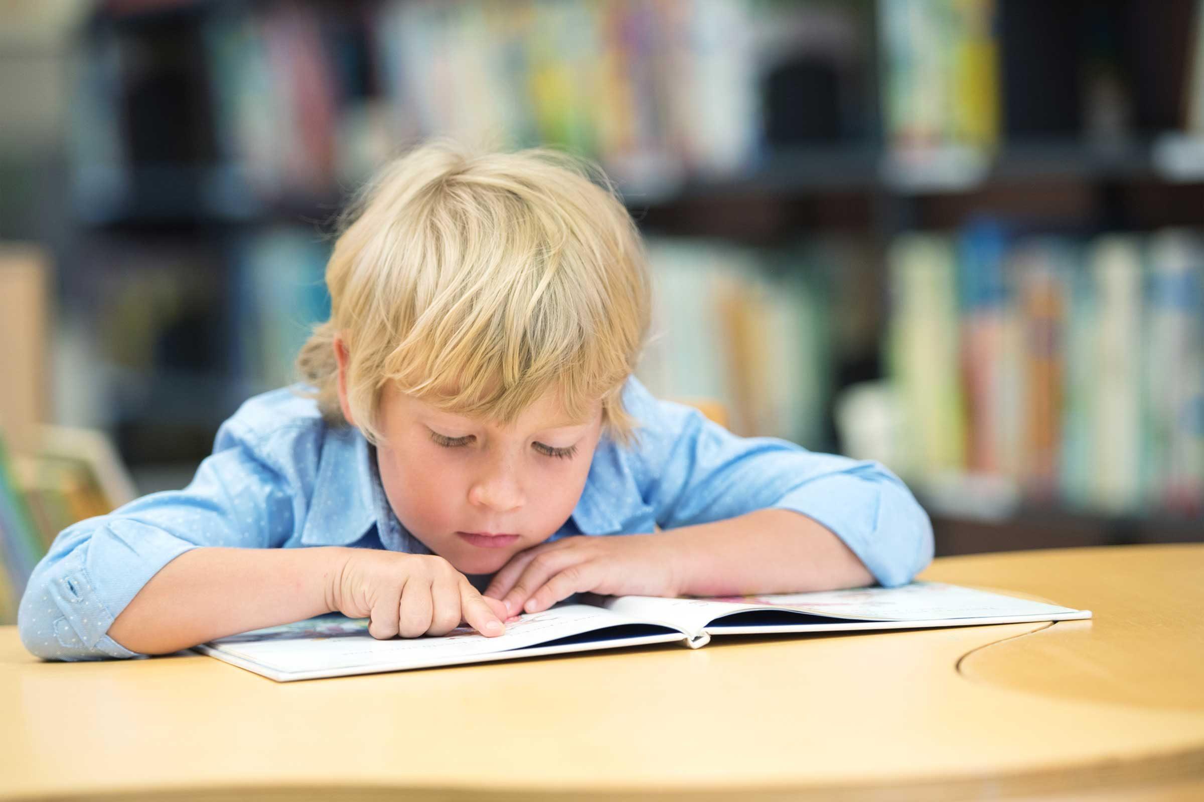 He has delays in reading