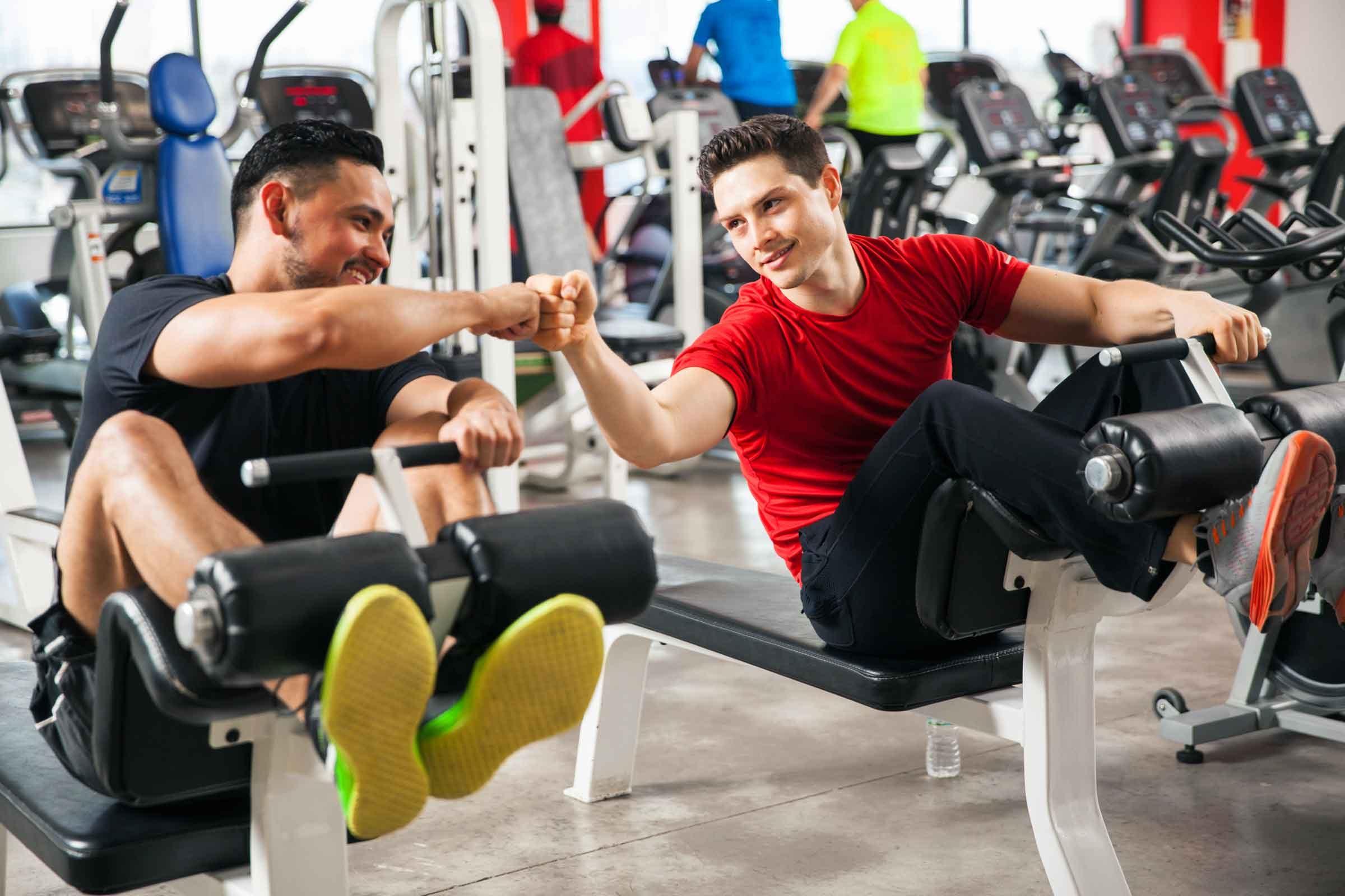 γυμναστική με φίλους
