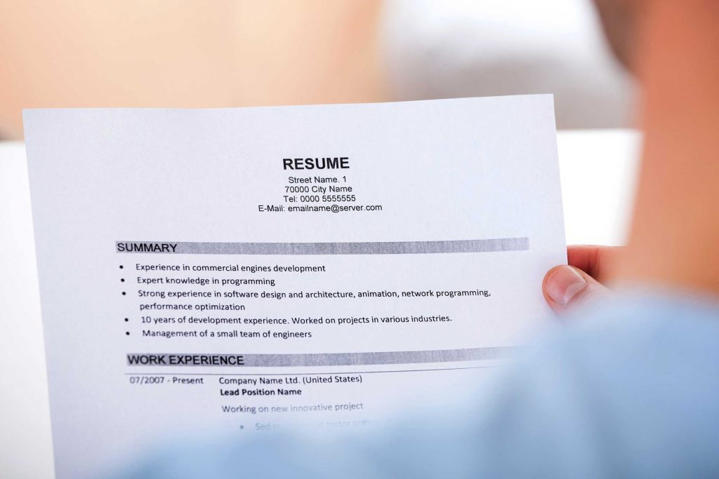 Changing Jobs Resume Templates