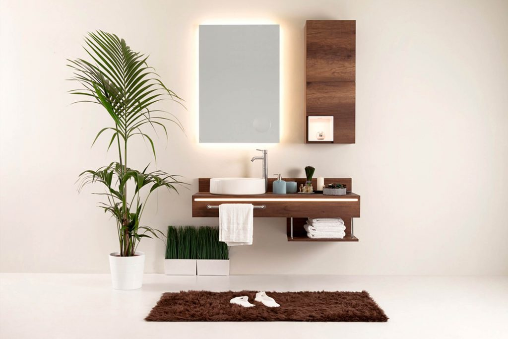 how to make a small windowless bathroom look bigger
