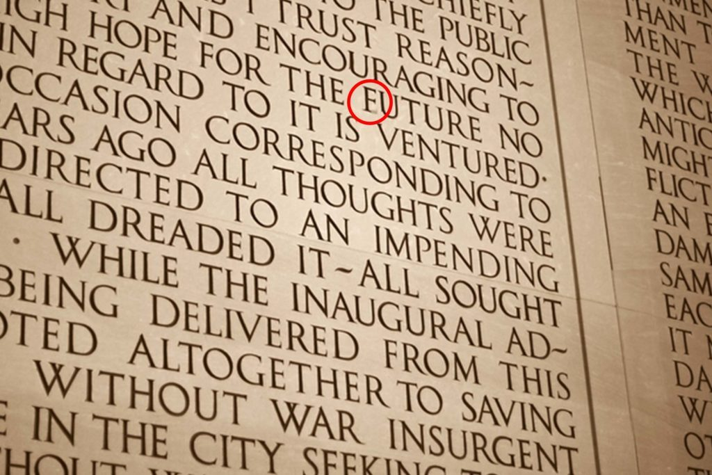 There S A Typo On The Lincoln Memorial Reader S Digest