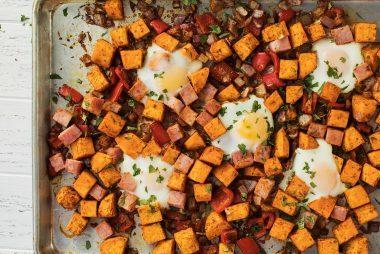 Baked-Eggs-and-Sweet-Potato-Hash