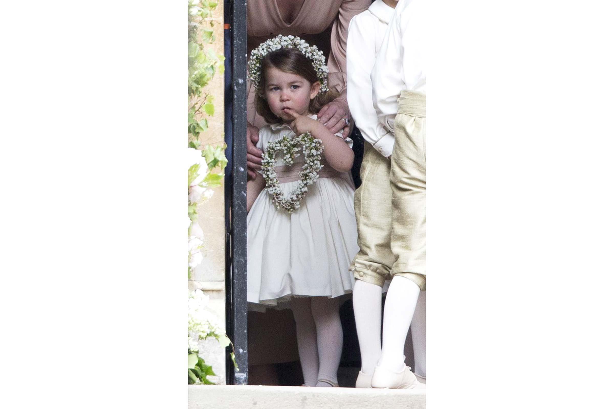 La Princesse Charlotte au mariage de sa tante Pipa