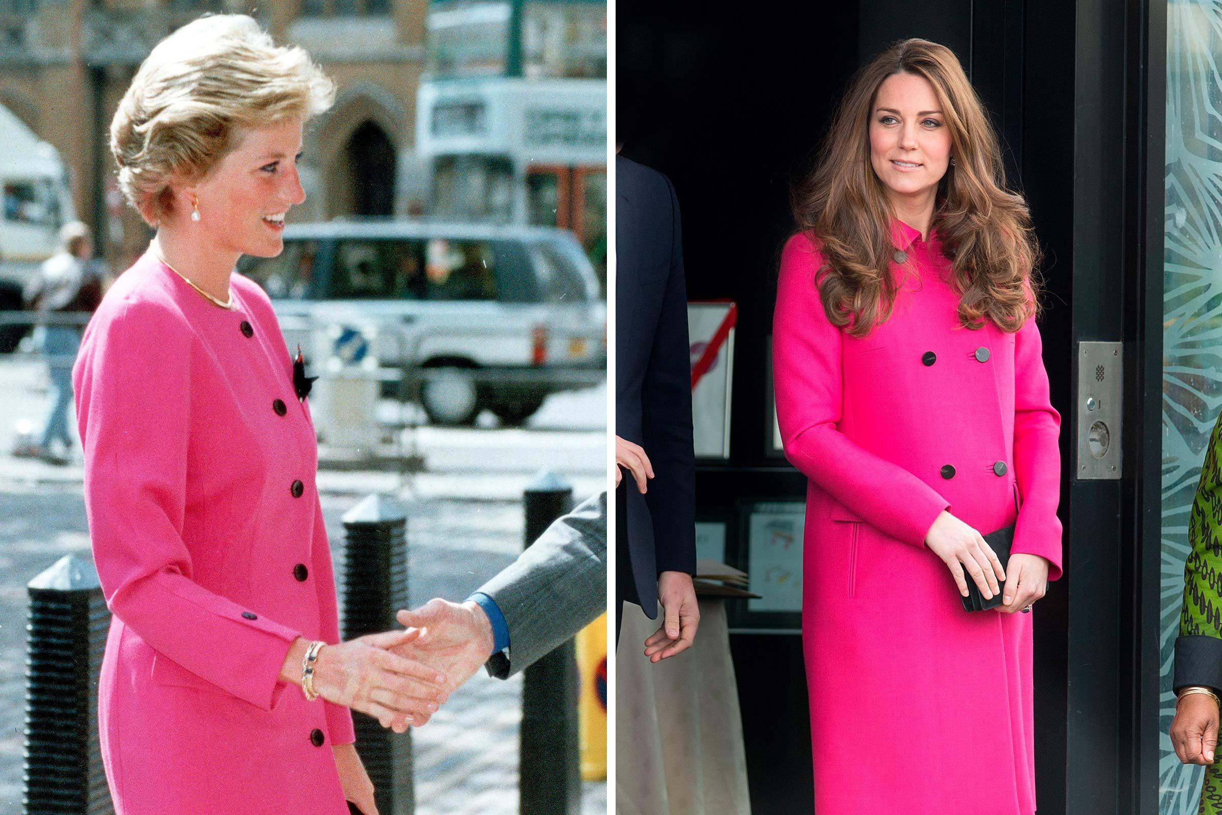 Une mode tout en rose, pour la princesse Diana et Kate Middleton