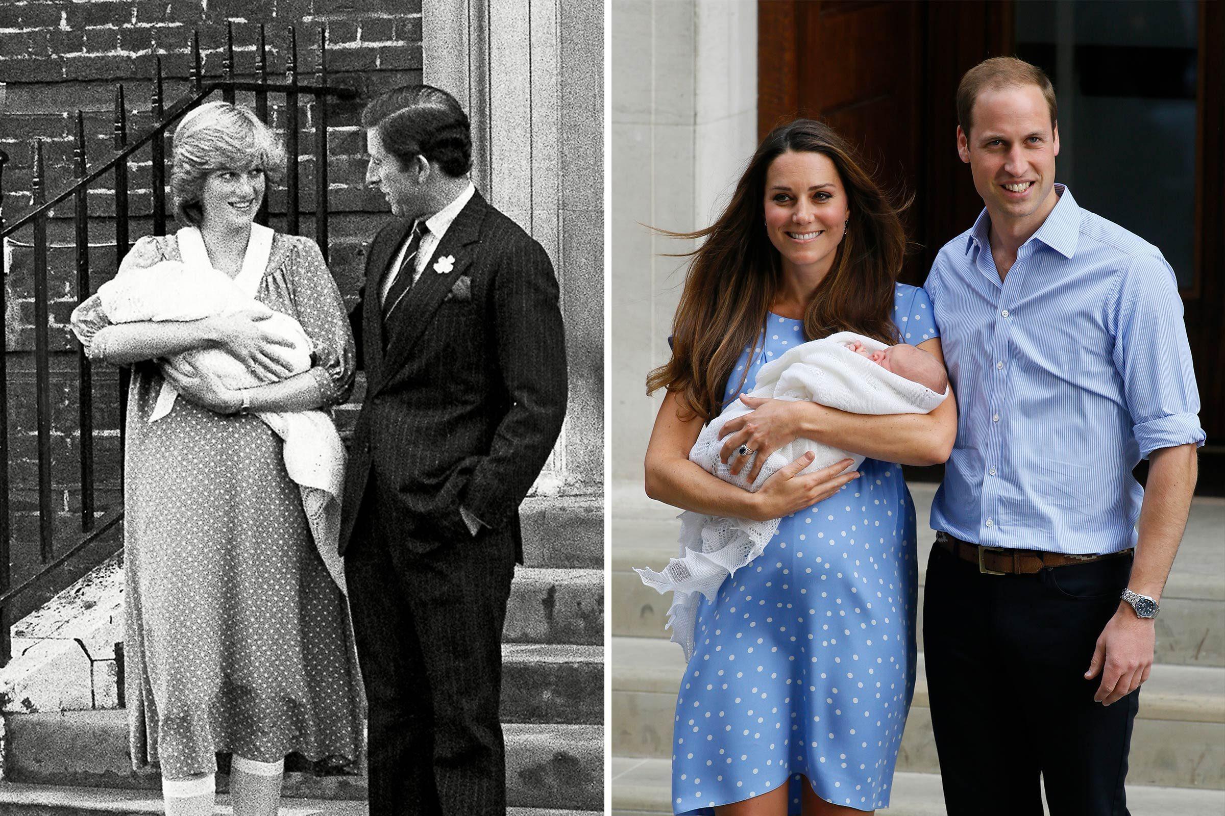 Mode et maternité, pour la princesse Diana et Kate Middleton