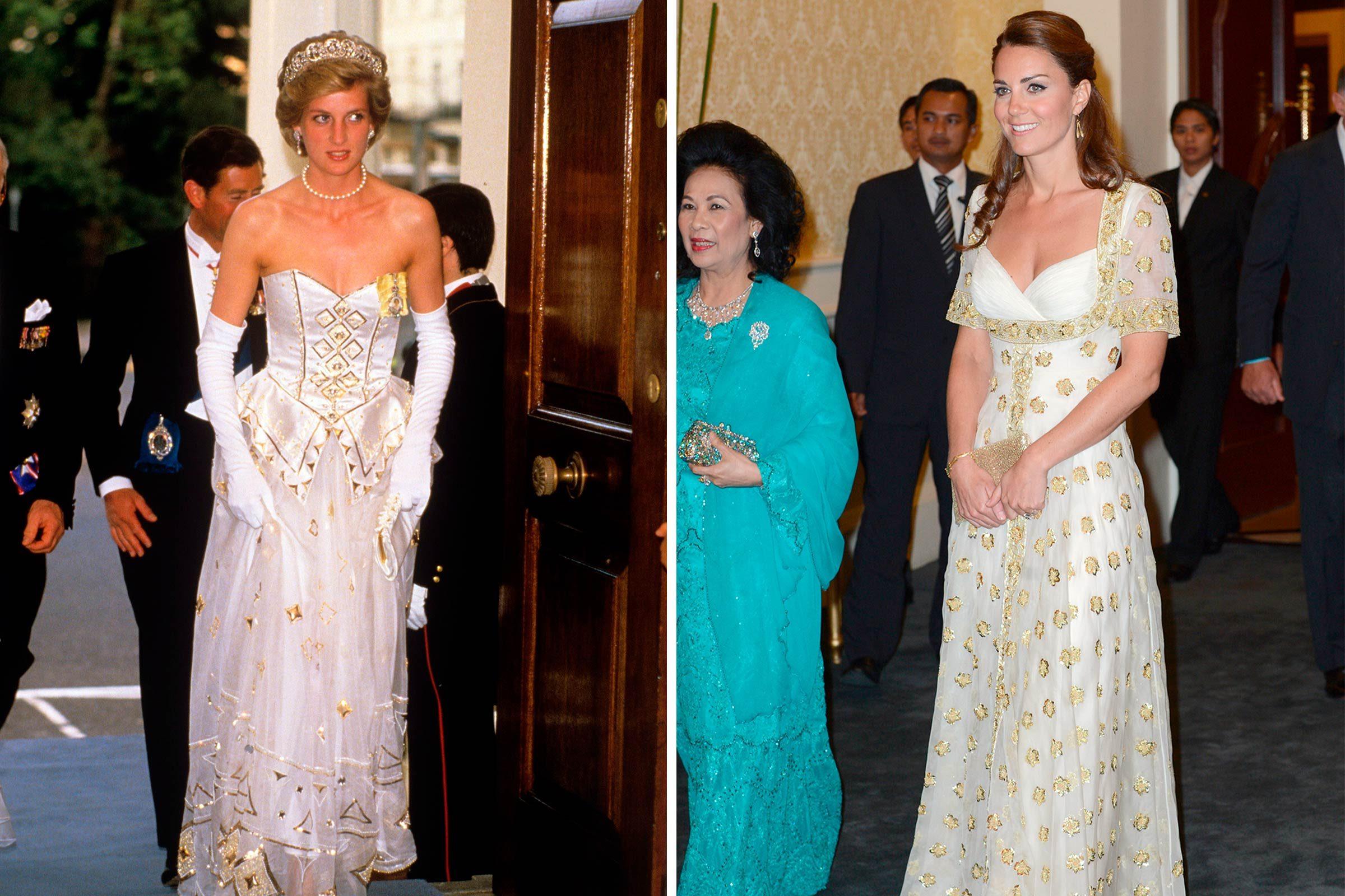 La princesse Diane et Kate Middleton en blanc