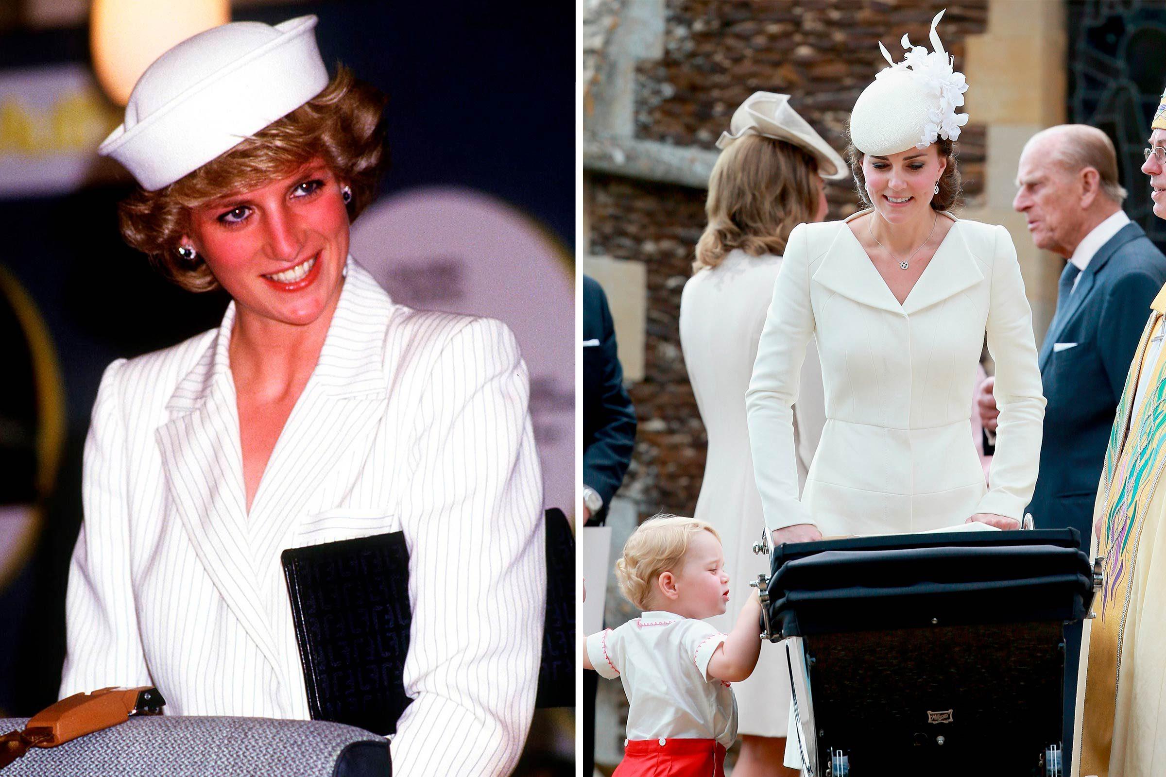 Blanc estival, pour la princesse Diana et Kate Middleton