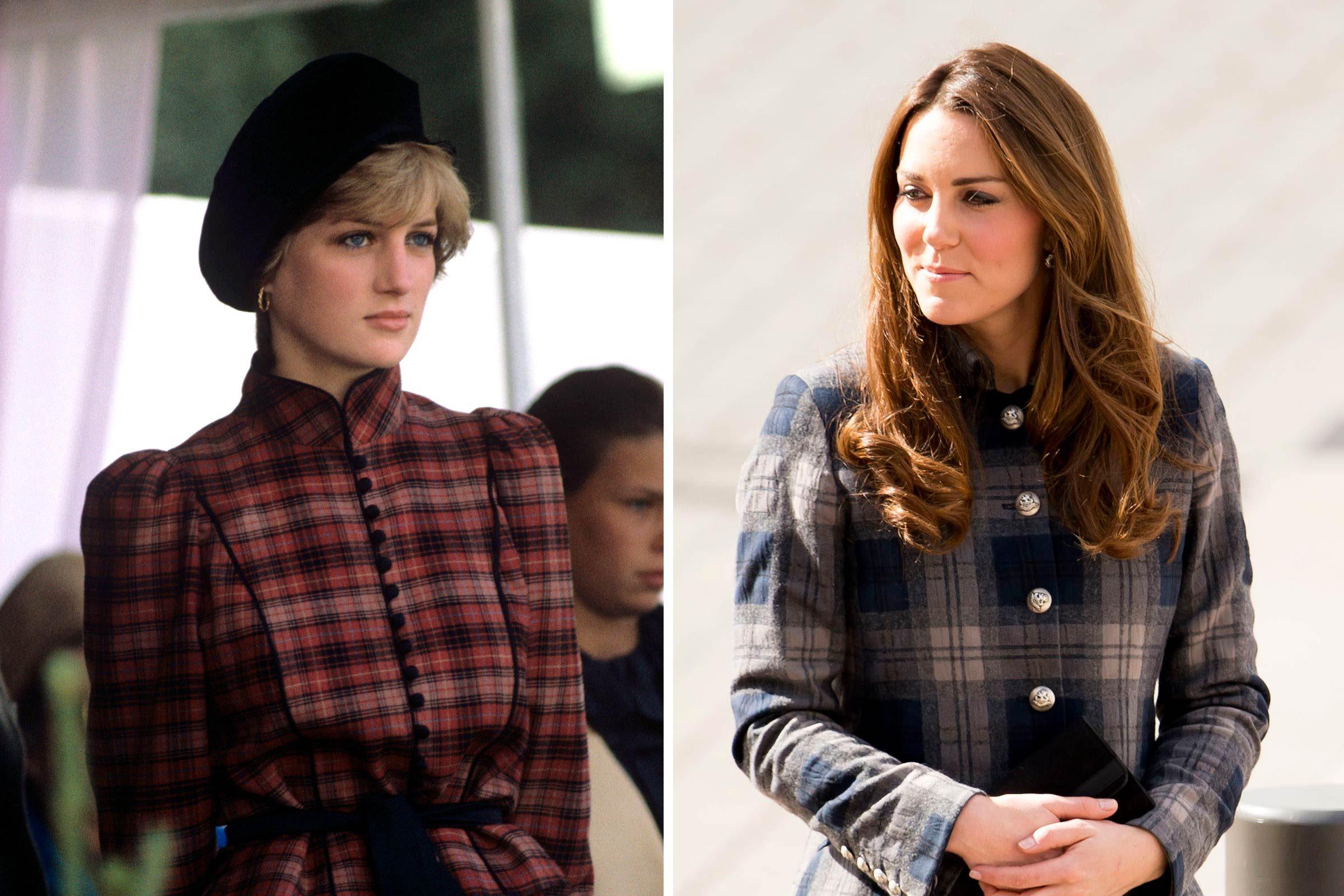 Kate et Diana et la passion du tartan