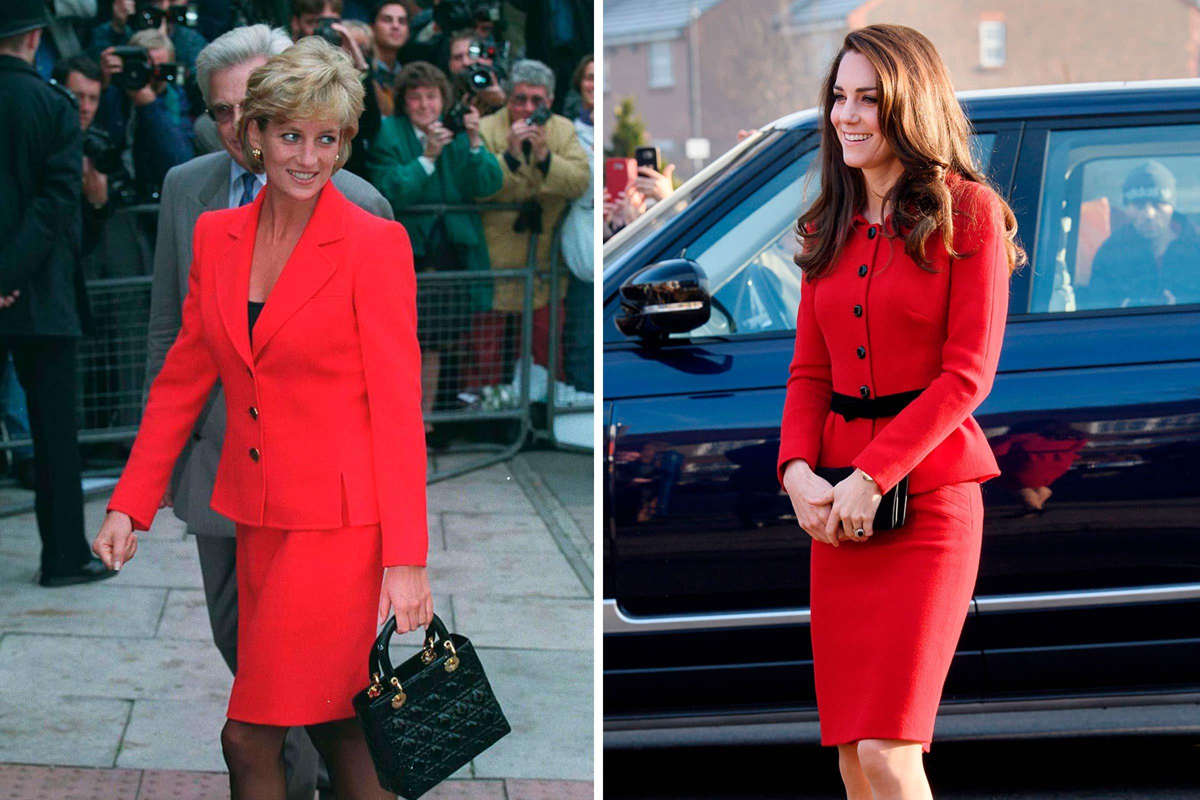 Kate et Diana: le pouvoir de la mode en rouge