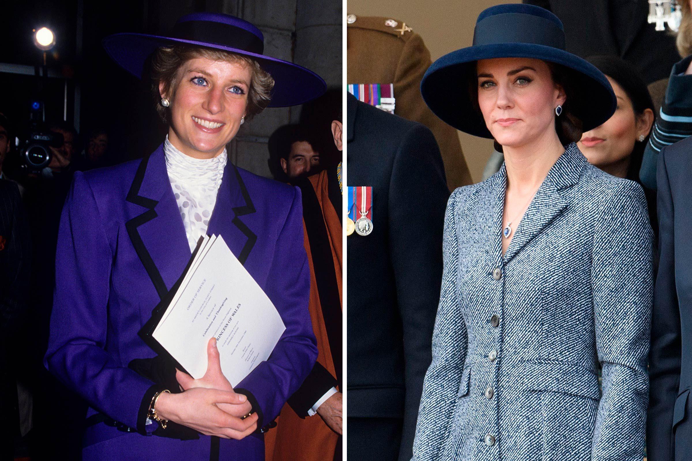 Kate et Diana, en bleu de la tête aux pieds